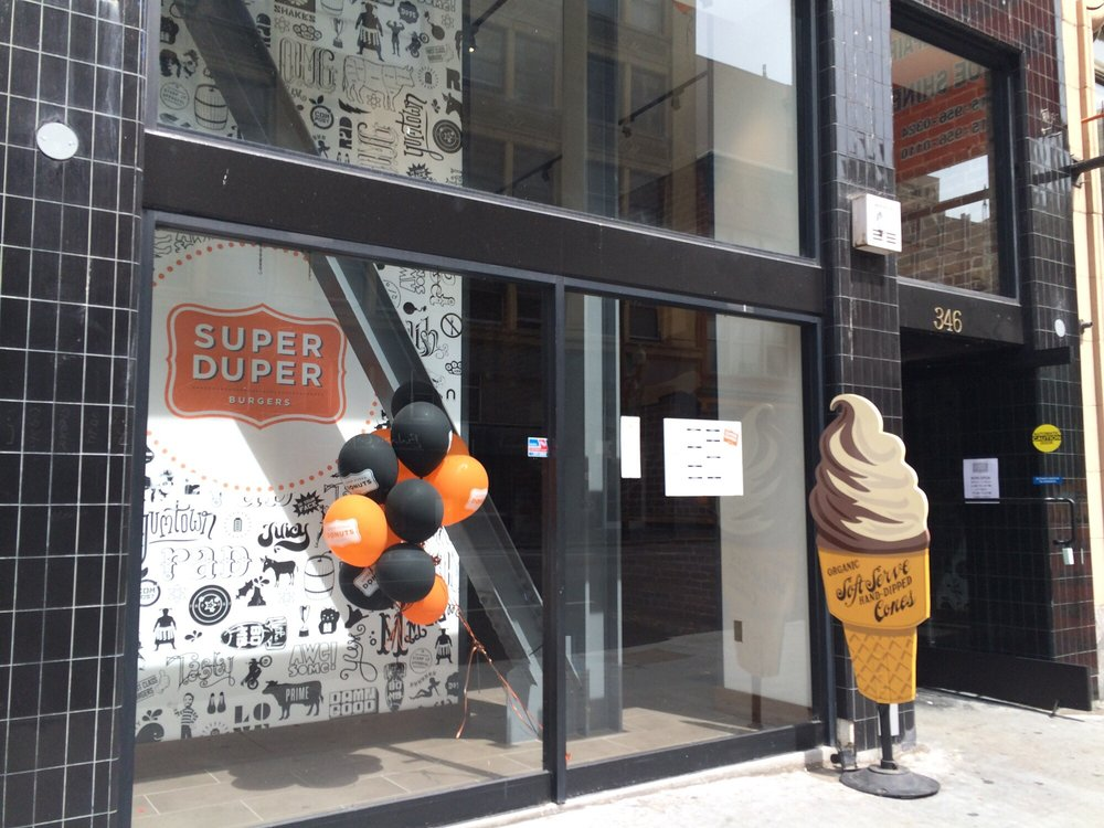 Super Duper Burger in FiDi will have all the special patties.