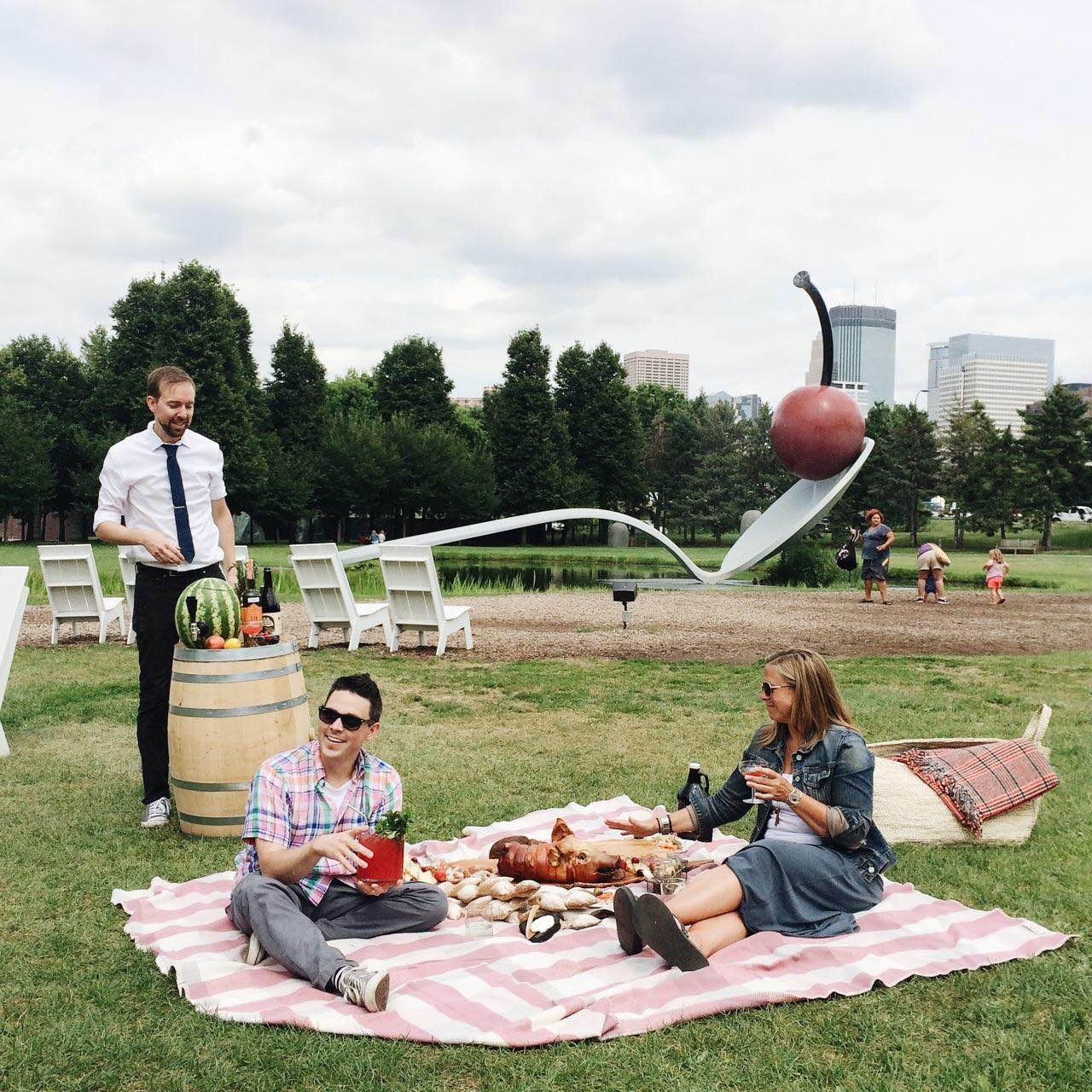 Robb Jones, Gavin Kaysen and Stephanie March in The Best Picnic Ever.