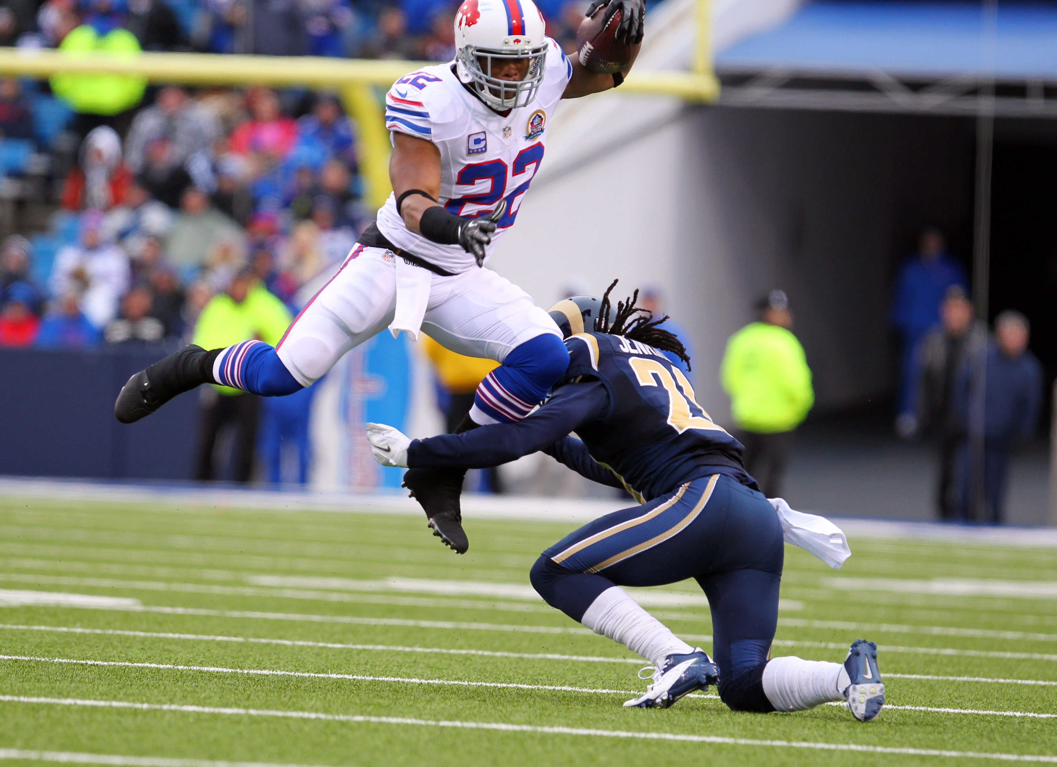 Fred Jackson earlier in the game vs. the Rams.