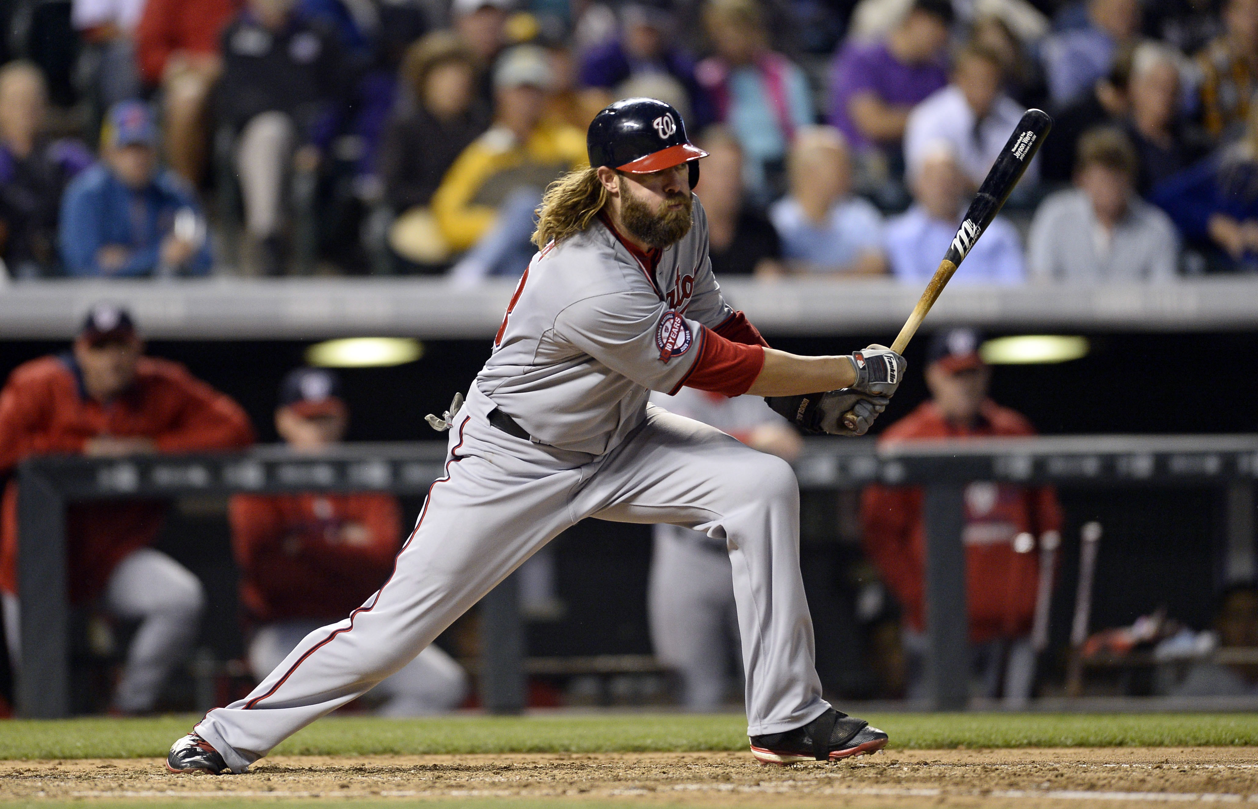 Shades of 2012: Jayson Werth returned to the leadoff spot on Tuesday night.