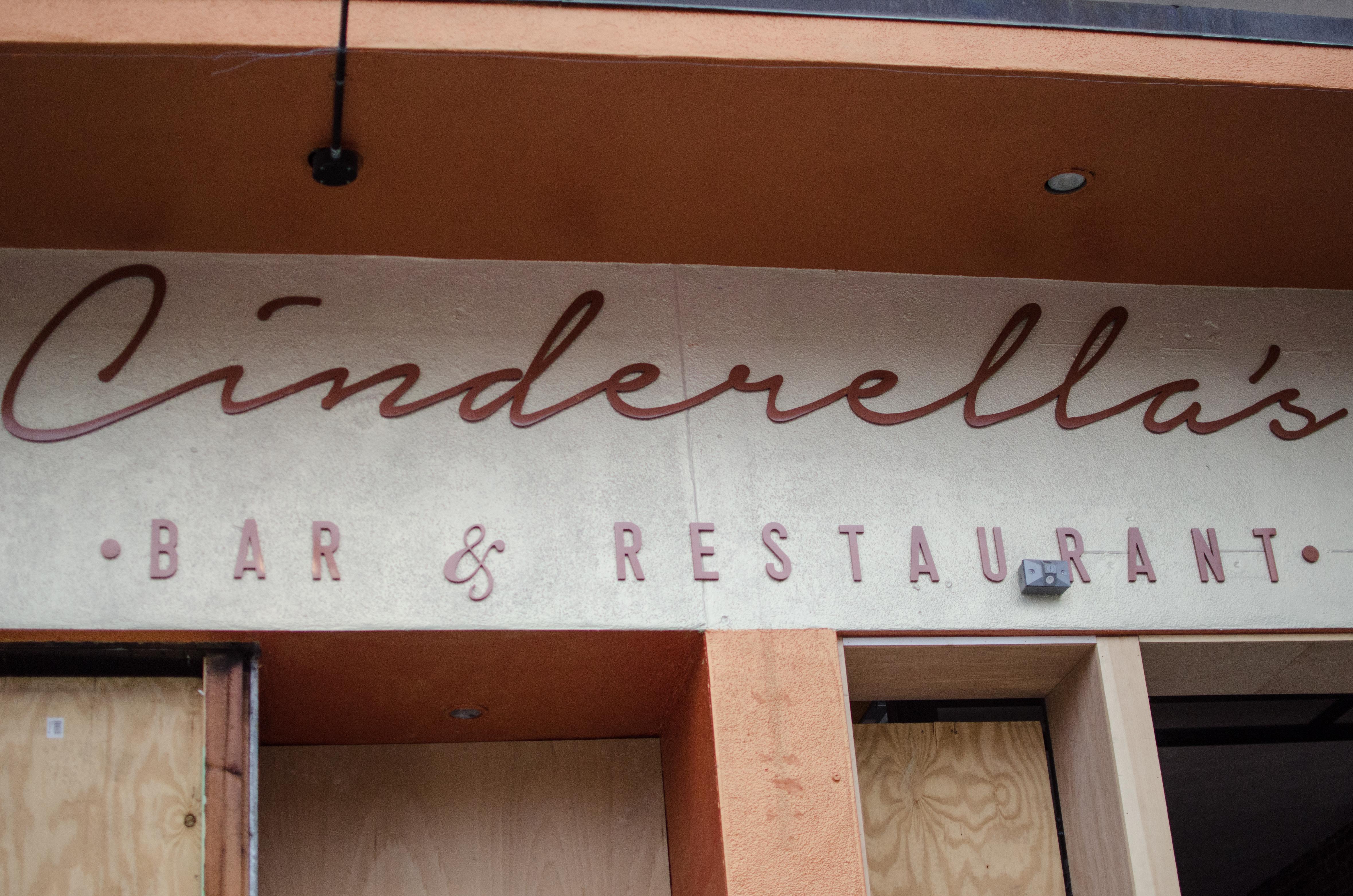 New signage at Cinderella's.
