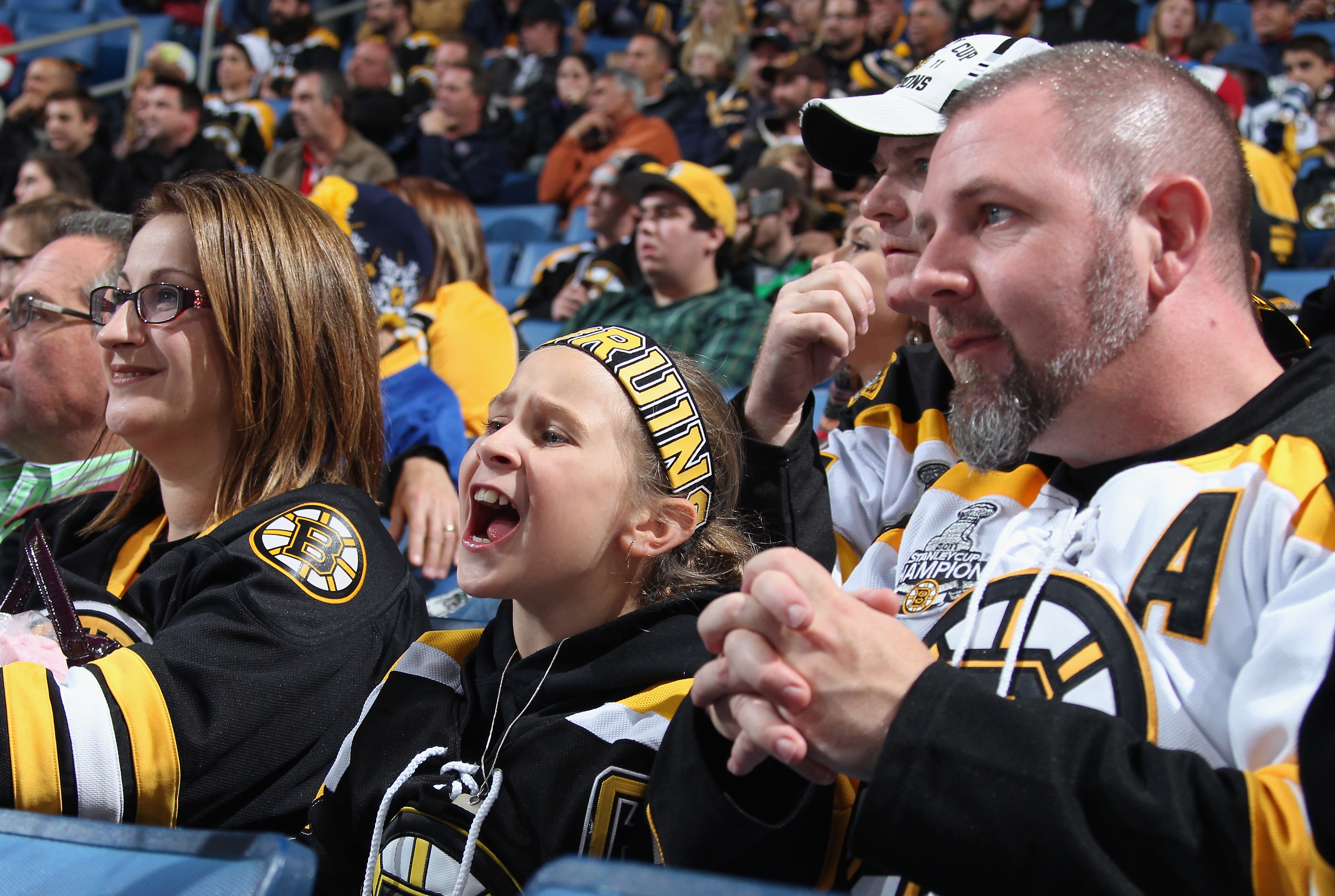 """""""Gimme a B!""""  Cheering for the Bruins"""