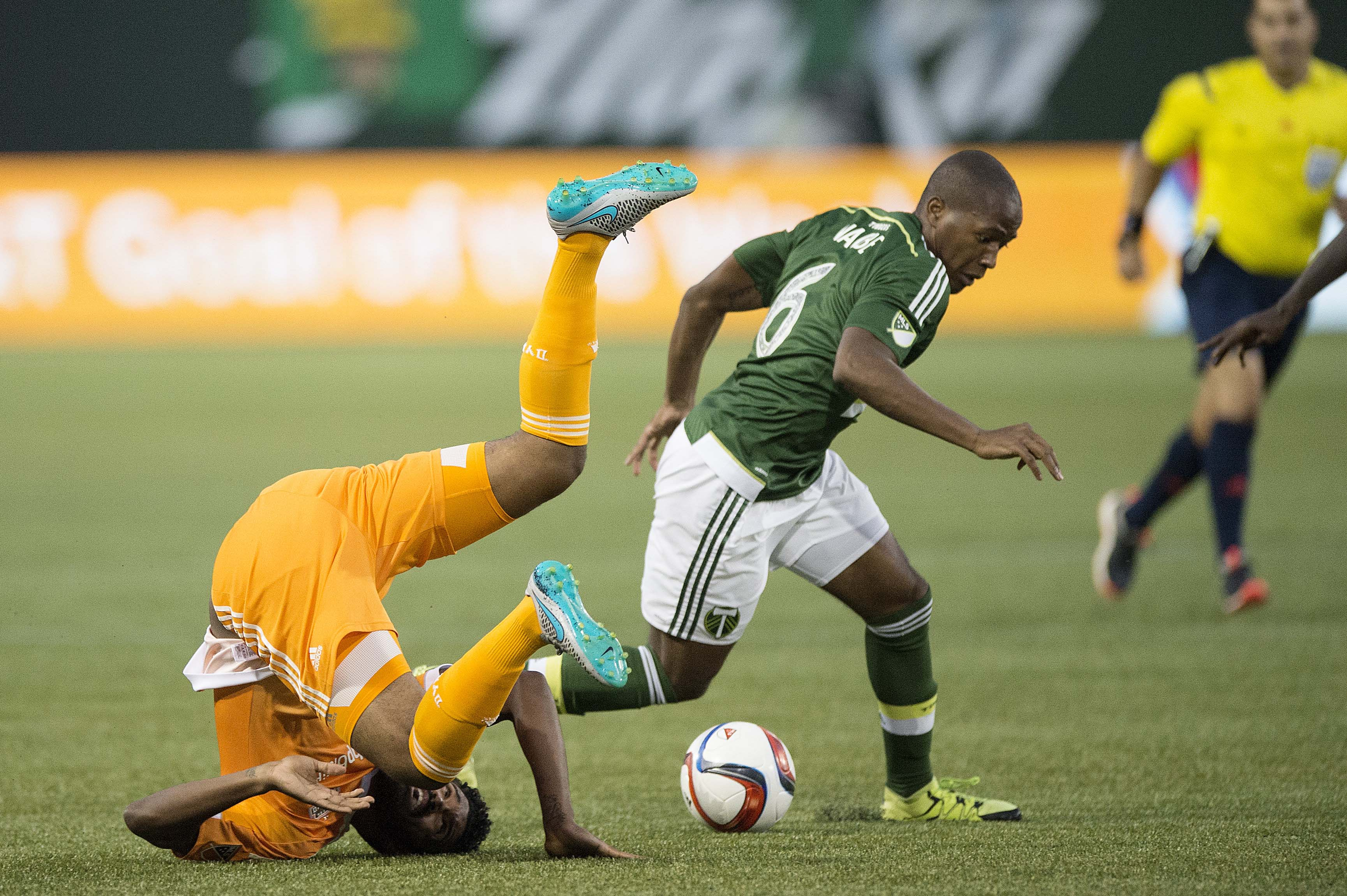 Darlington Nagbe (6) scored a magnificent goal to get things started for Portland late in the game.