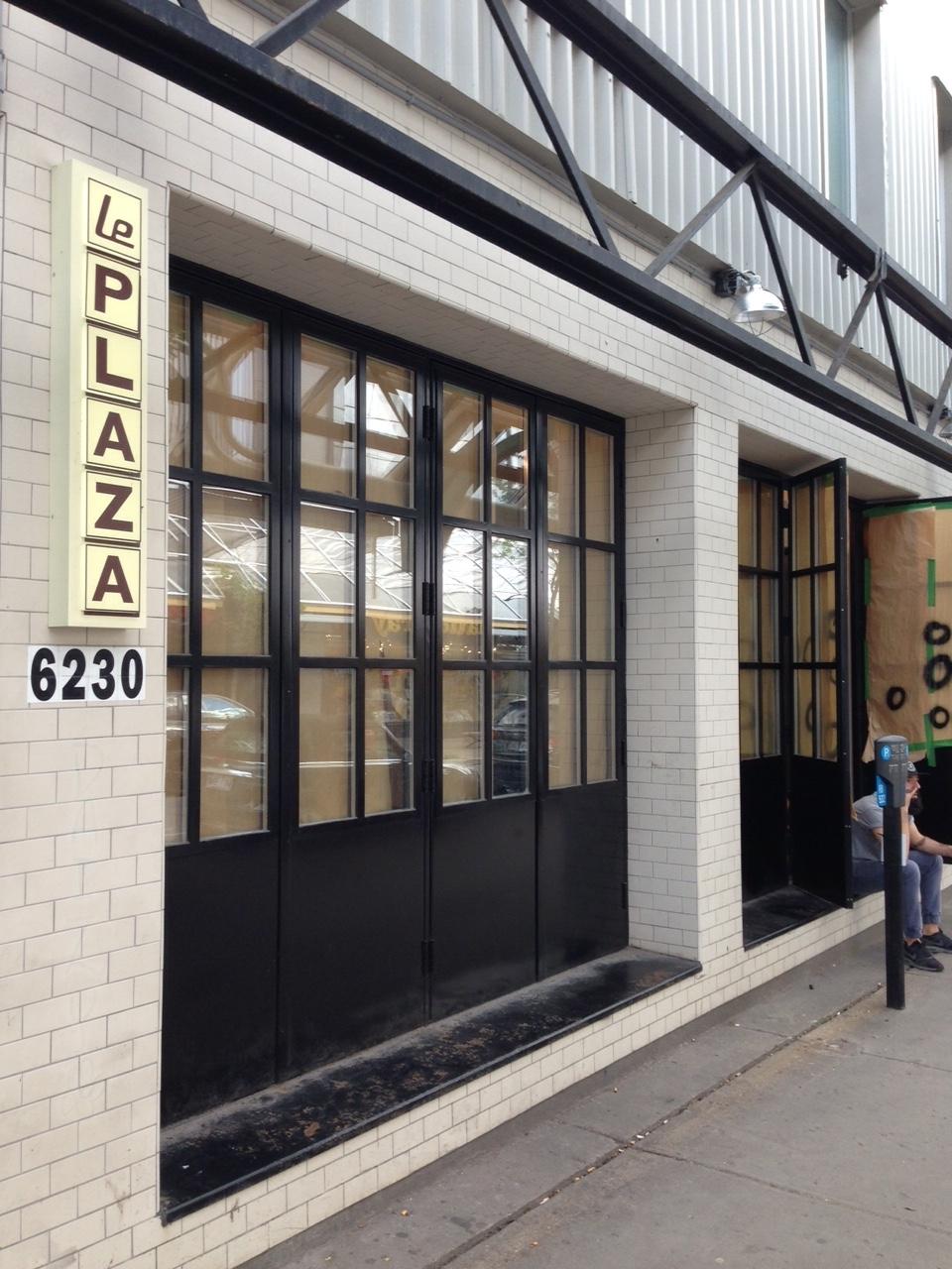 Outside the new Montréal Plaza