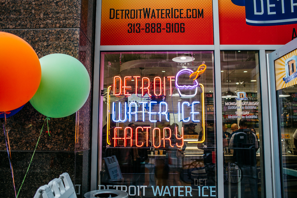 Detroit Water Ice Factory.