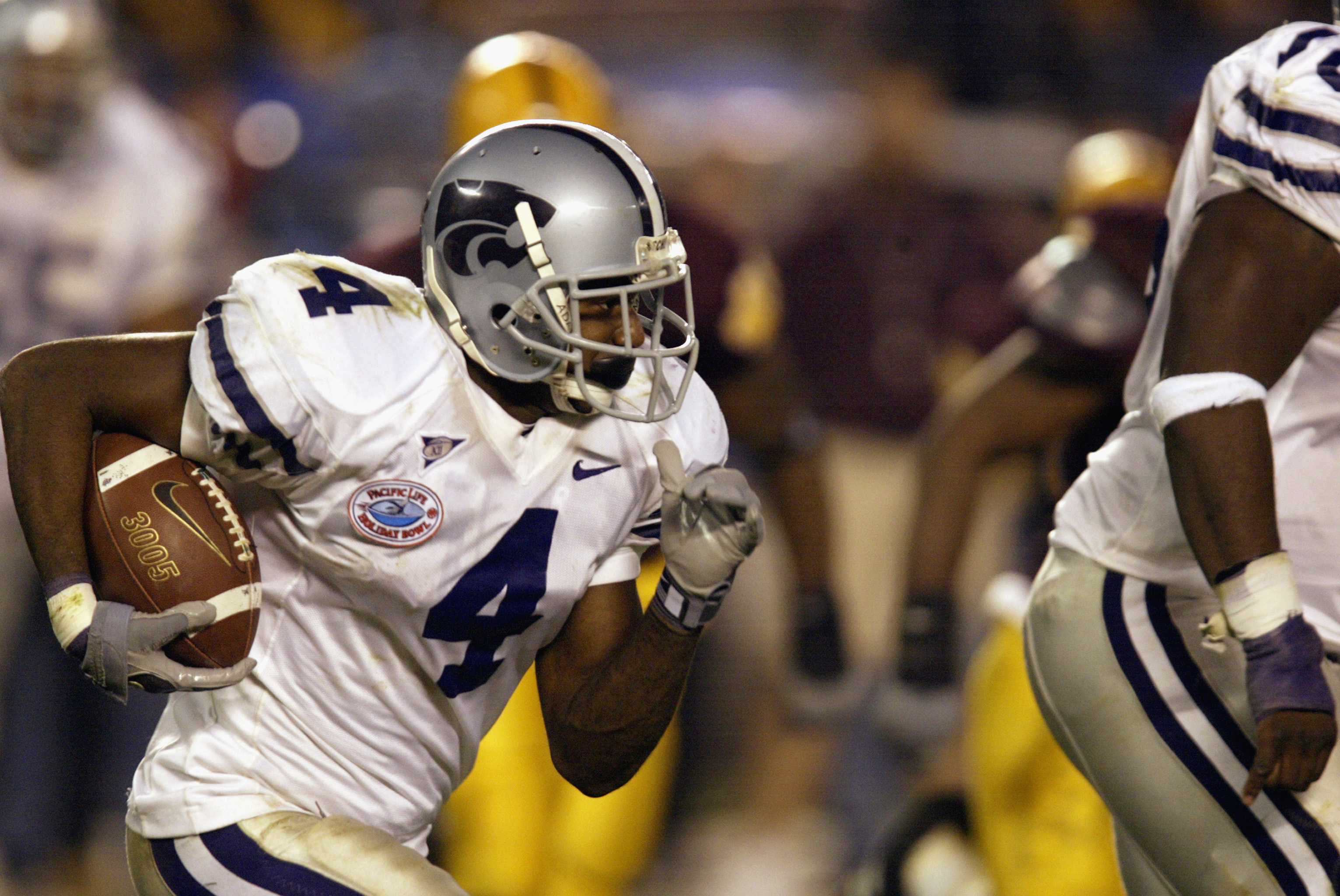 I don't want to get too deep into the overhype game, but Duke Shelley carries the potential to be K-State's best pure cornerback since this guy.