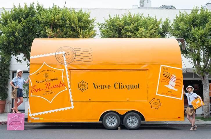 Veuve Cliquot's champagne truck.