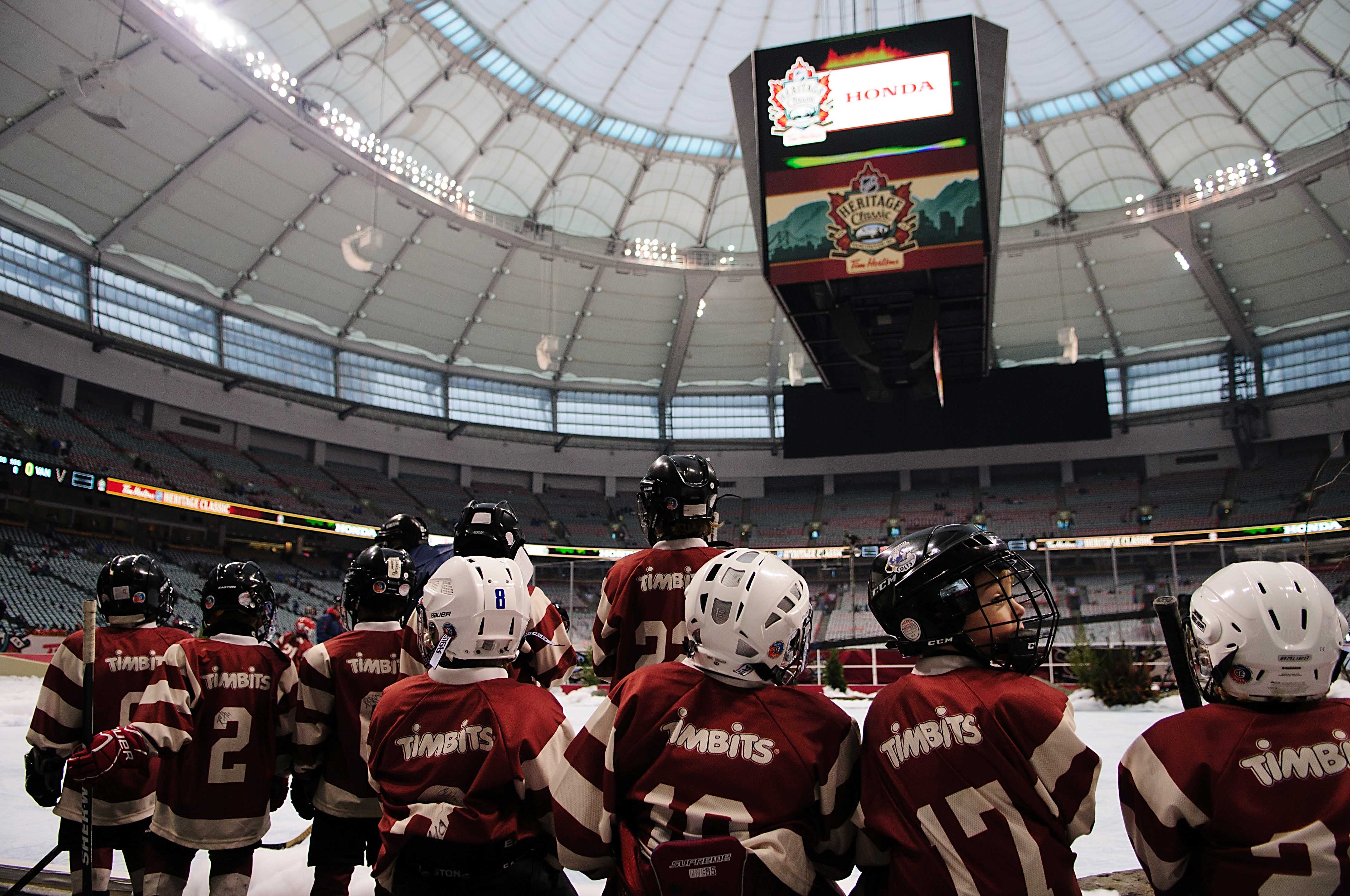 Pictured, the newest group of BC hockey recruits (OK, not really)