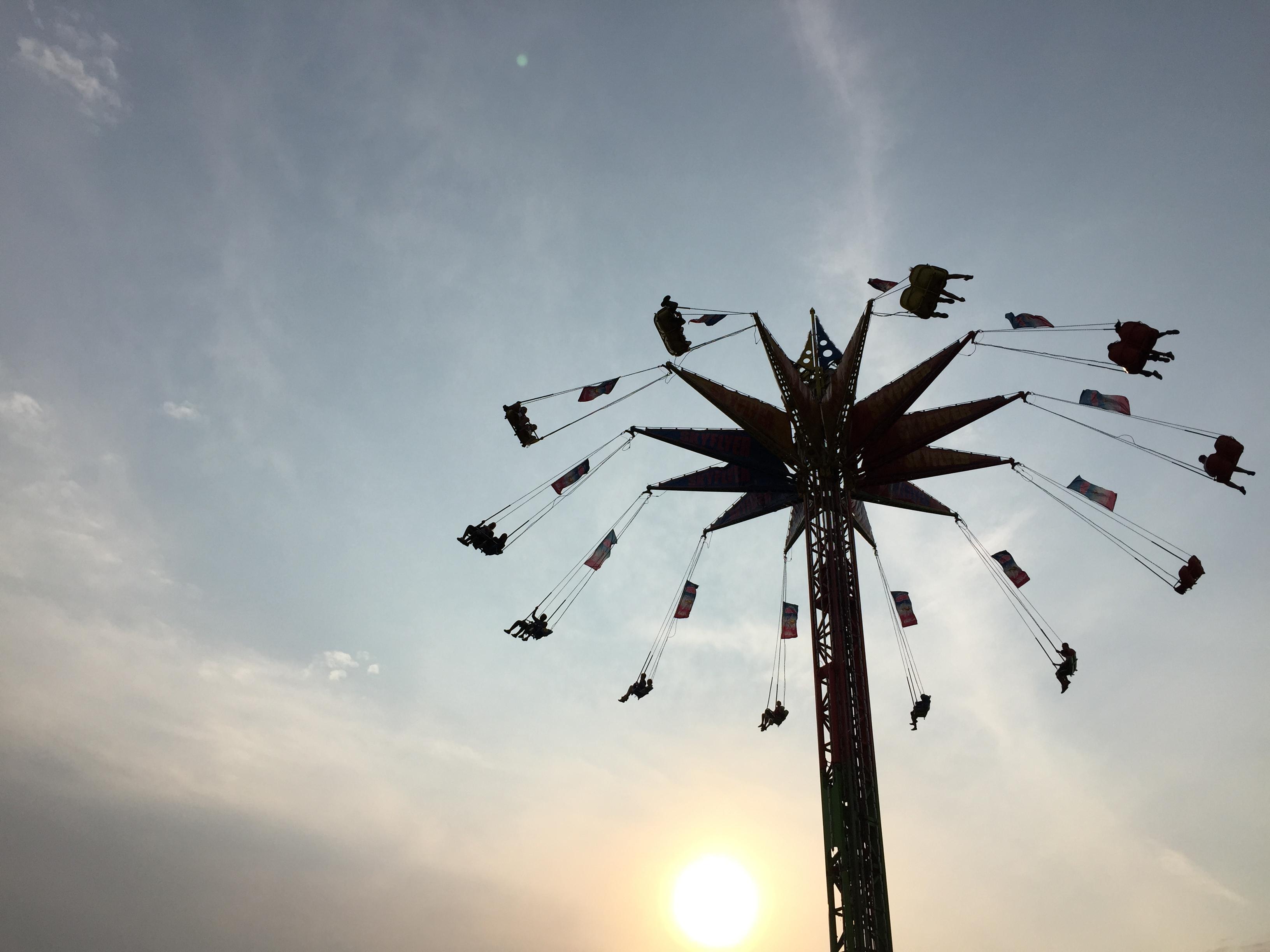 The fair is in full swing