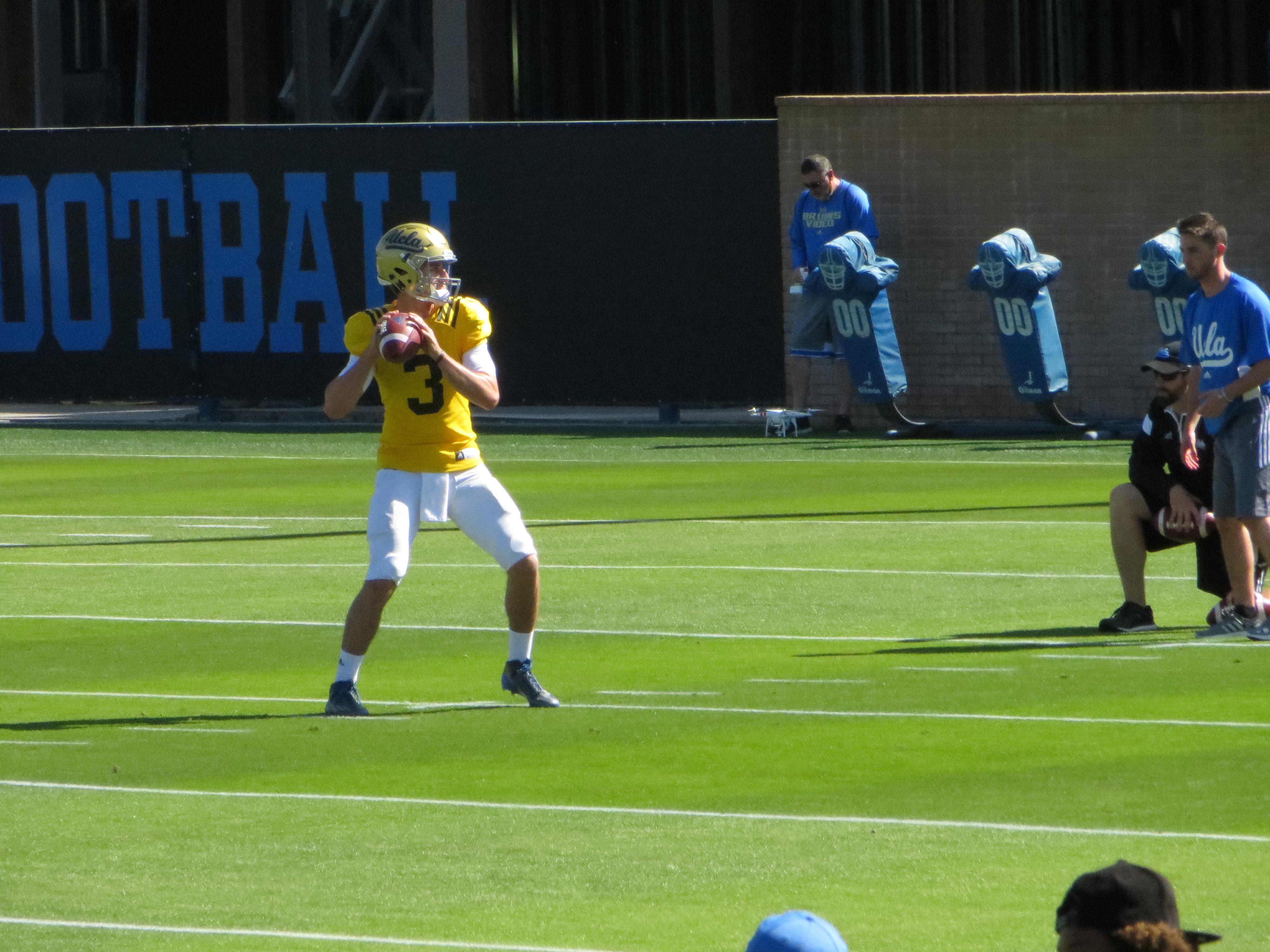 The focus falls on the freshman quarterback now.