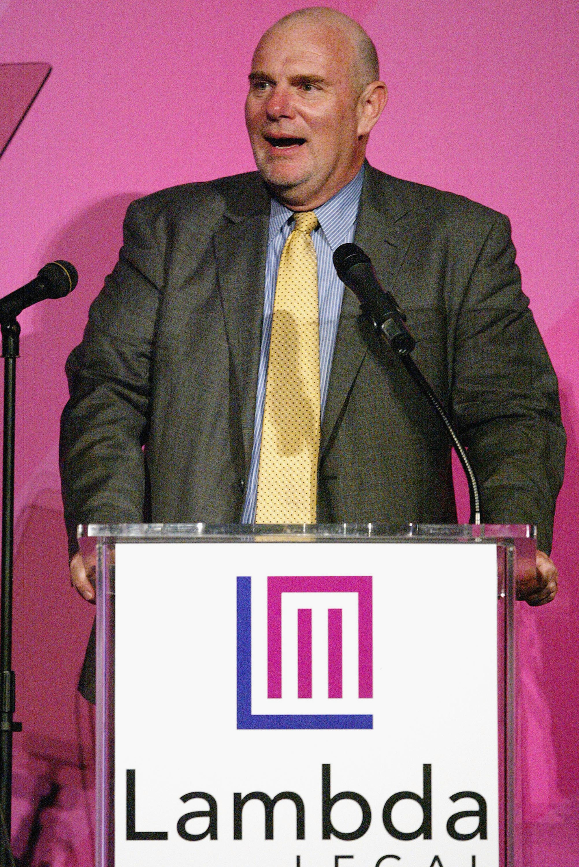Lambda Legal Executive Director Kevin Cathcart speaks during the Lambda Legal Liberty Awards at the Egyptian Theater in 2005.
