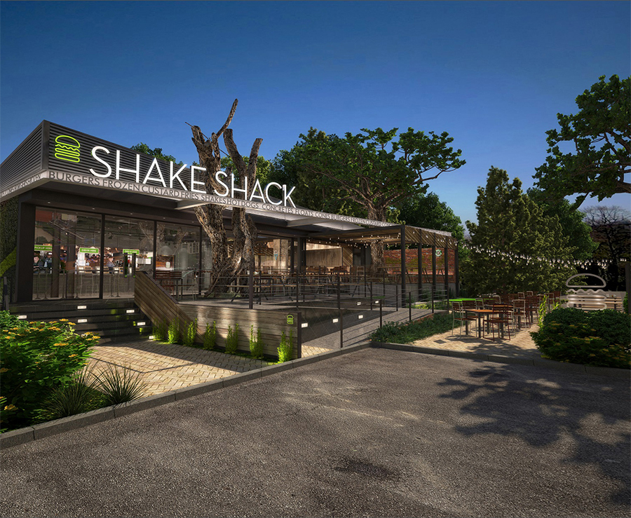 A rendering of Shake Shack's upcoming Tokyo location.