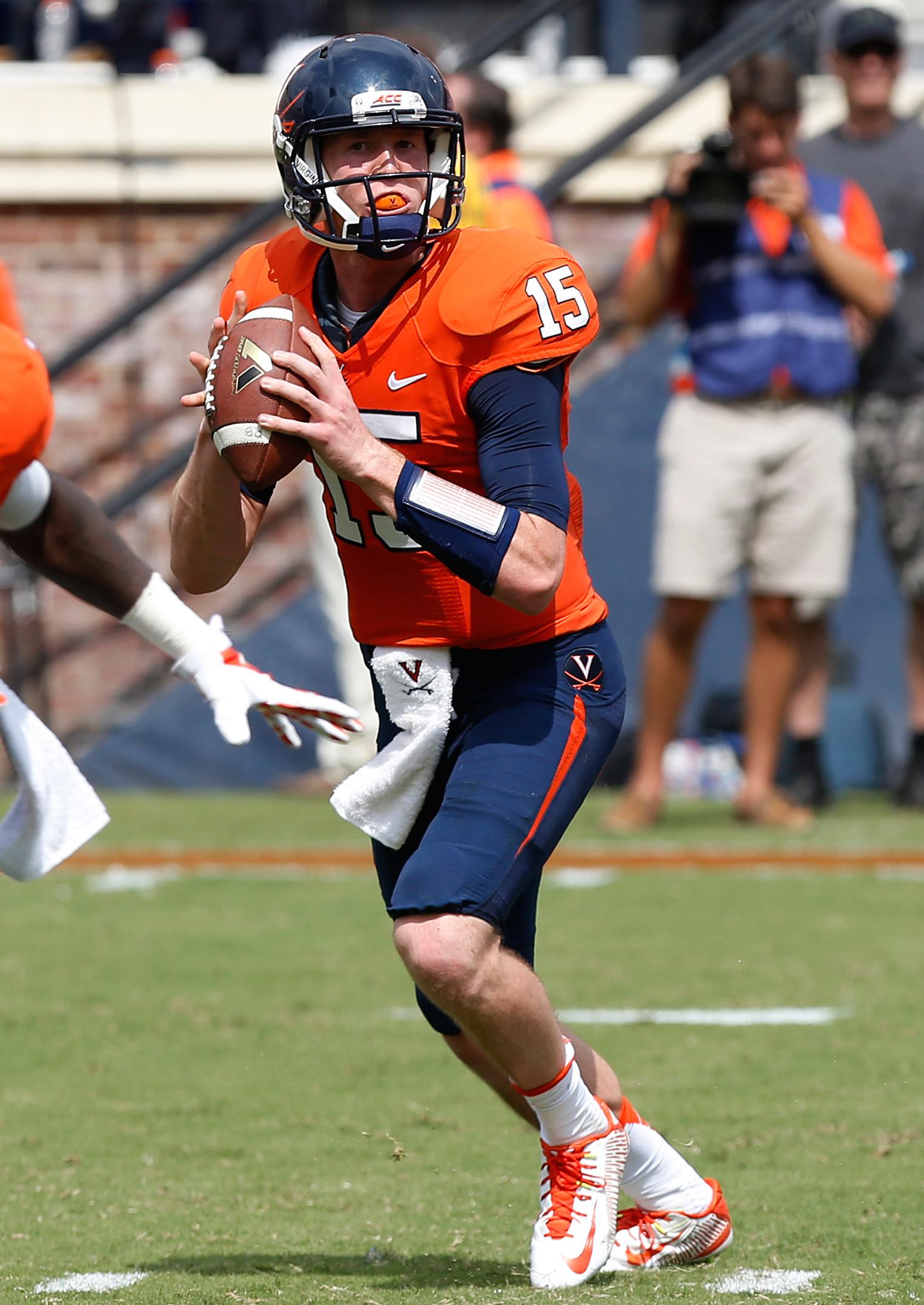 Virginia's starting quarterback, Matt Johns