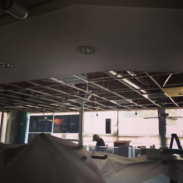 WuBurger under construction last month