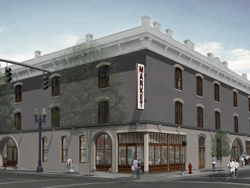The rendering of Pine Street Market
