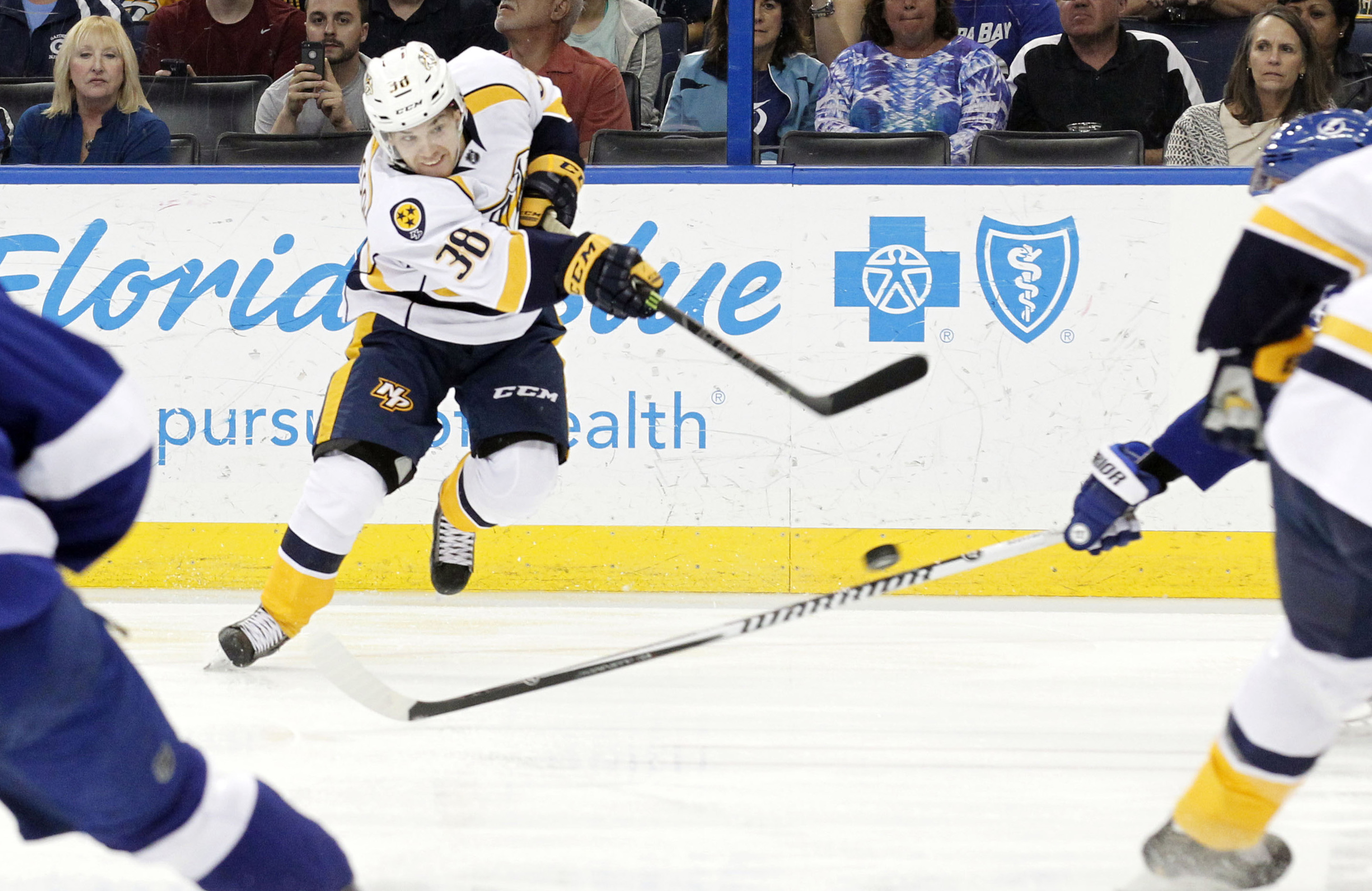 Viktor Arvidsson made quite an impact last season for the Admirals and will look to make the big club this fall.