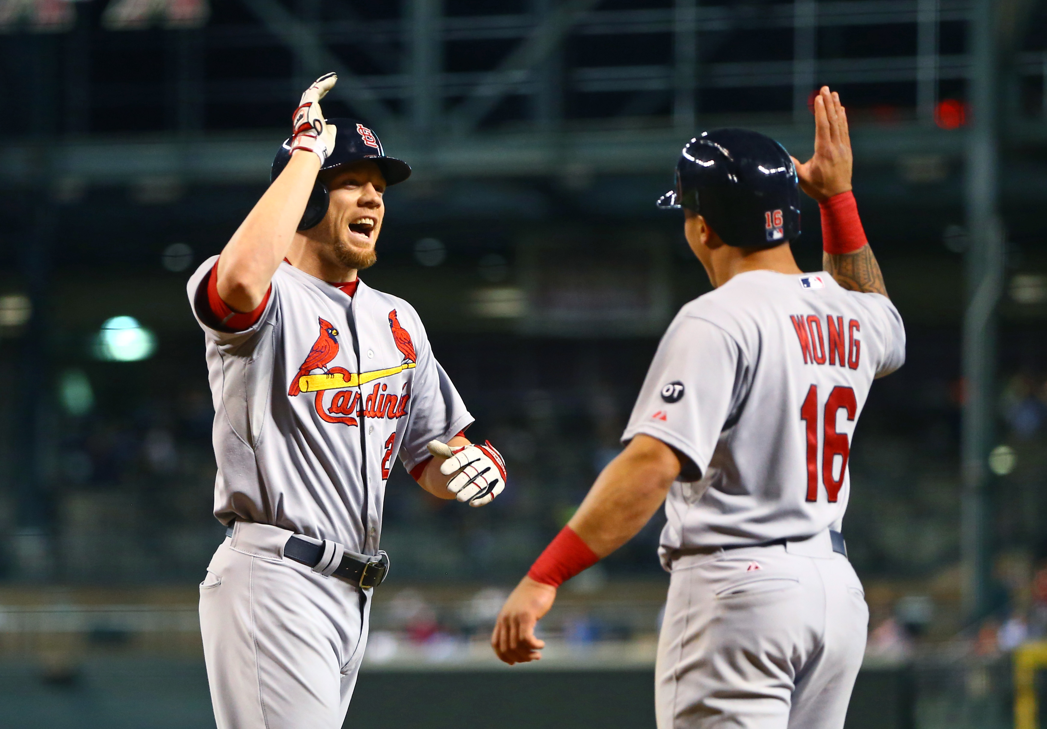 Moss gives 'Wonger' a high-five post-homer.
