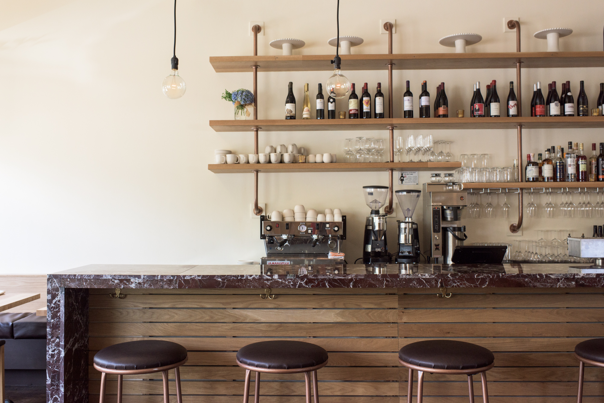 The bar at Coquine