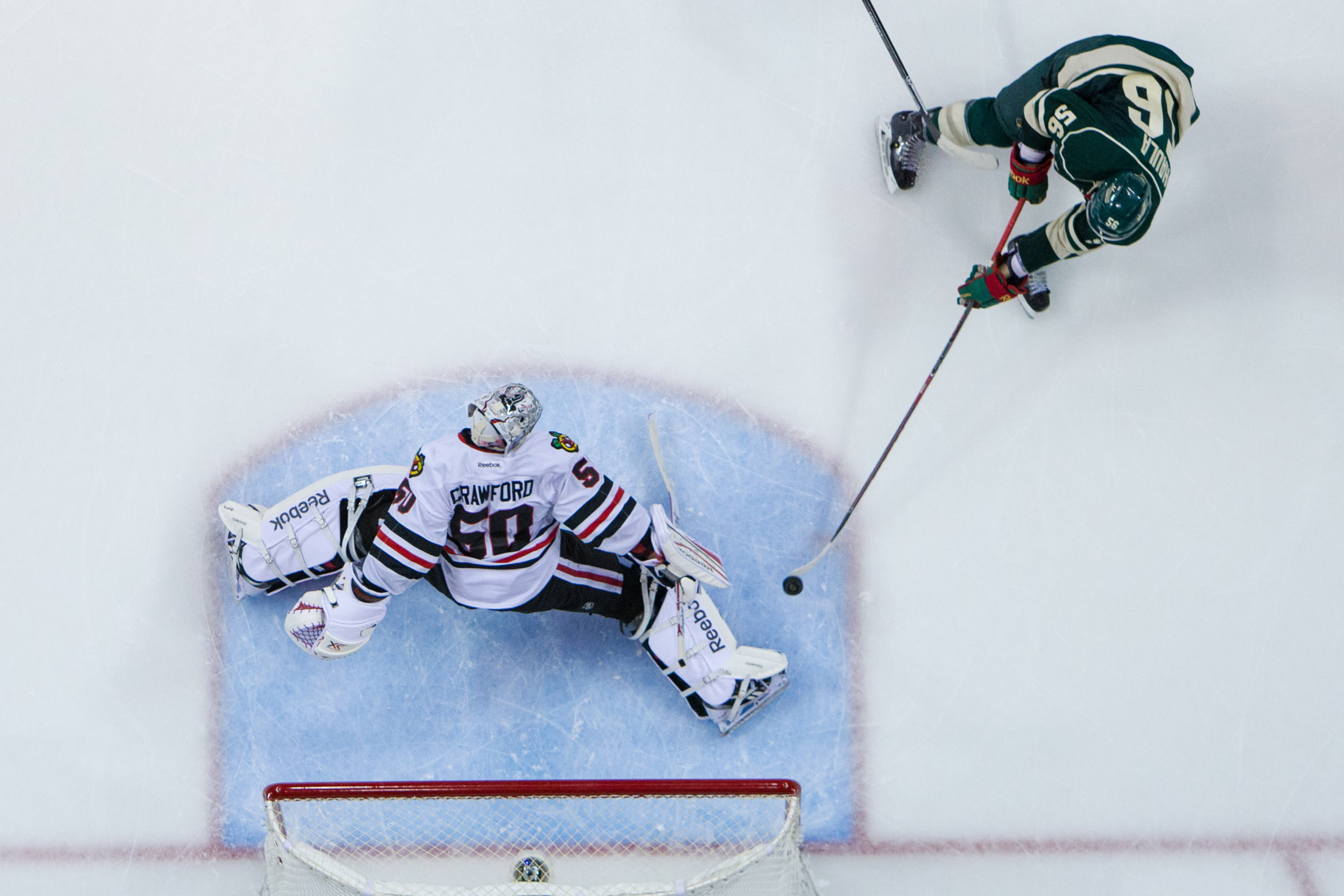 Erik Haula terrorized Corey Crawford and the Blackhawks in May 2014, and has been middling since.