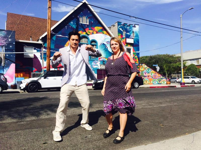 Full Circle founder/former Bop cover star Andrew Keegan and Nitespa owner Julia Lolita Martin-Wrobel.