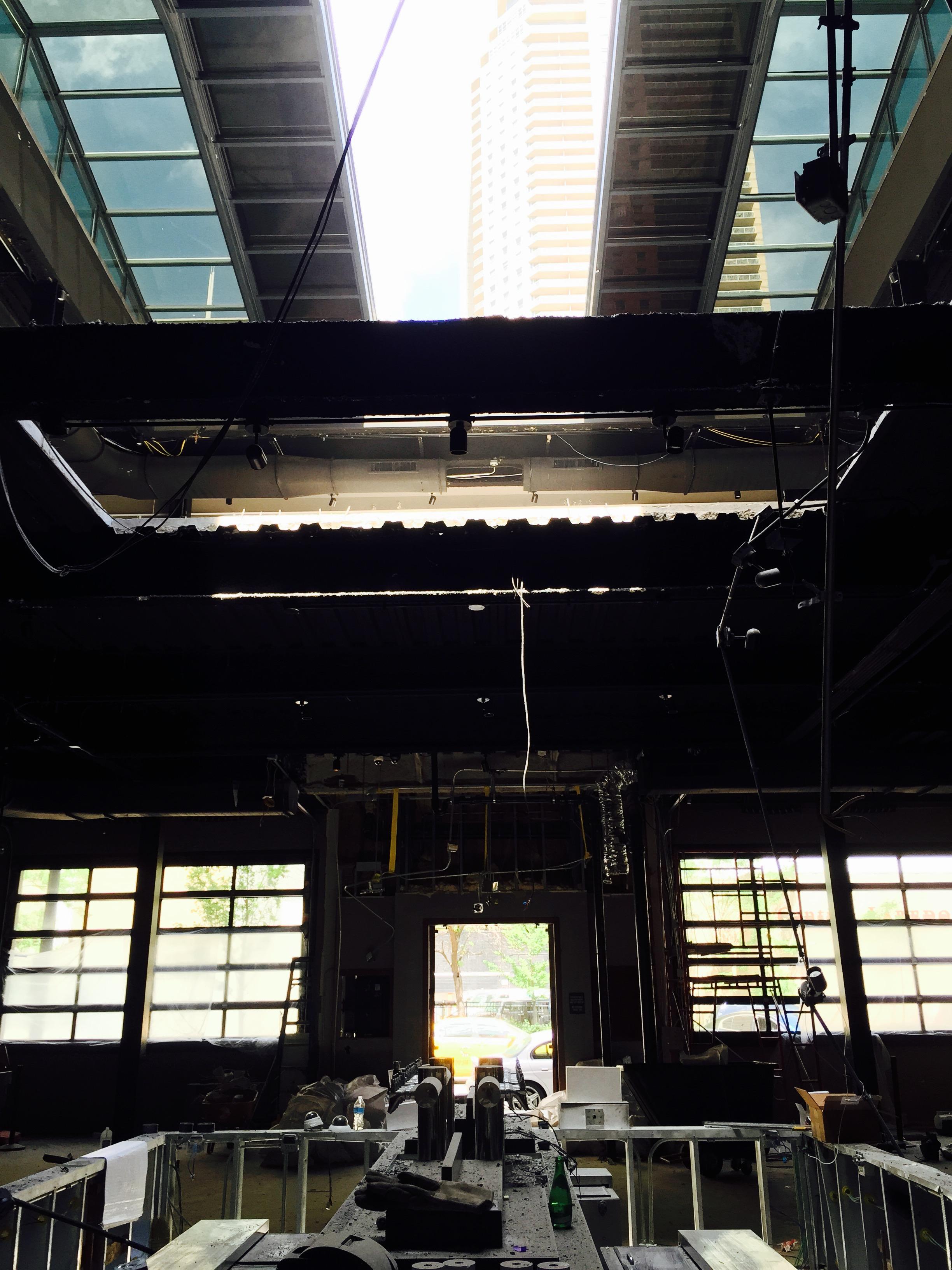 Construction inside Fremont