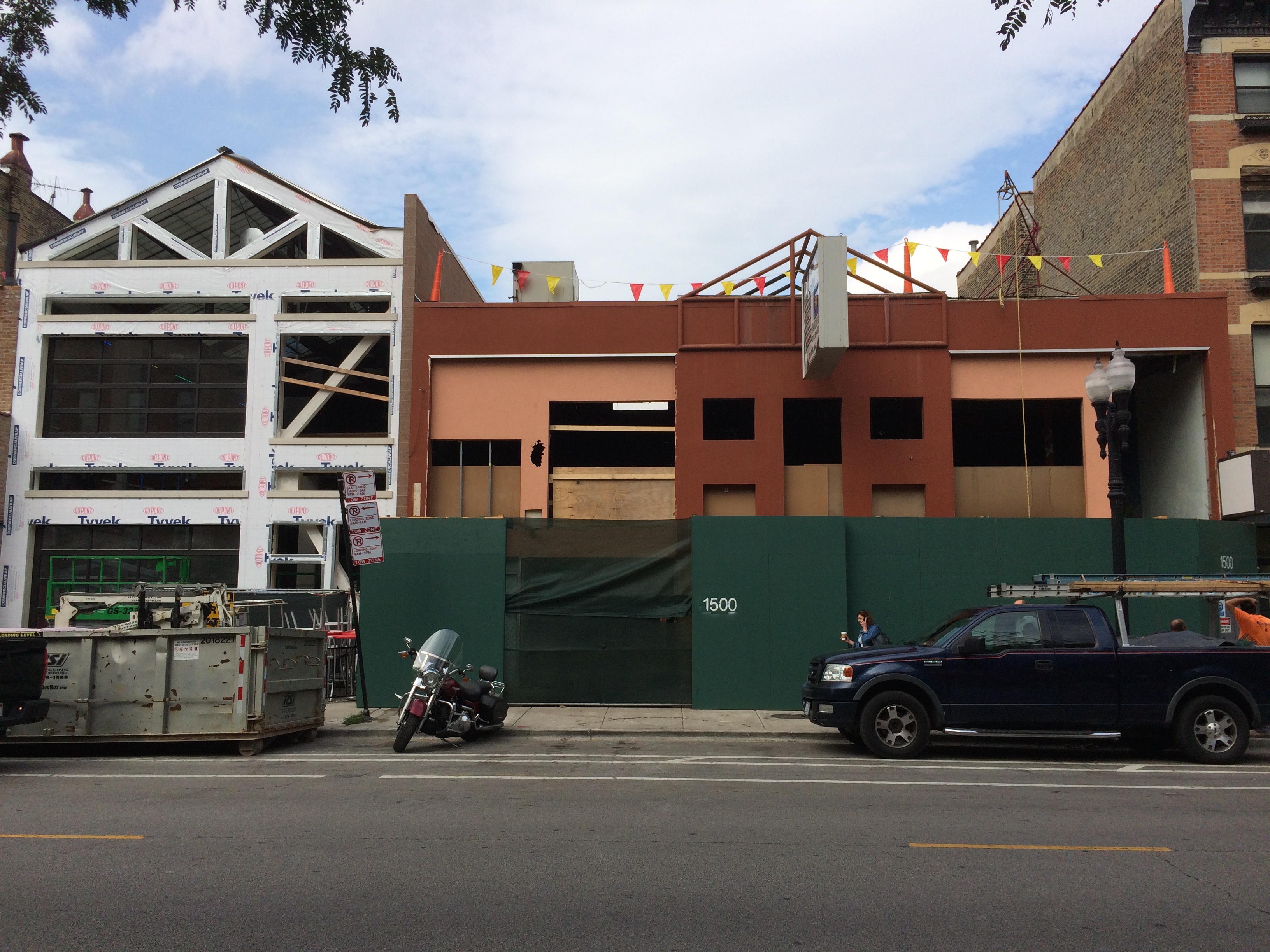 The owners of the Benchmark plan to open a new bar at the site on the right.