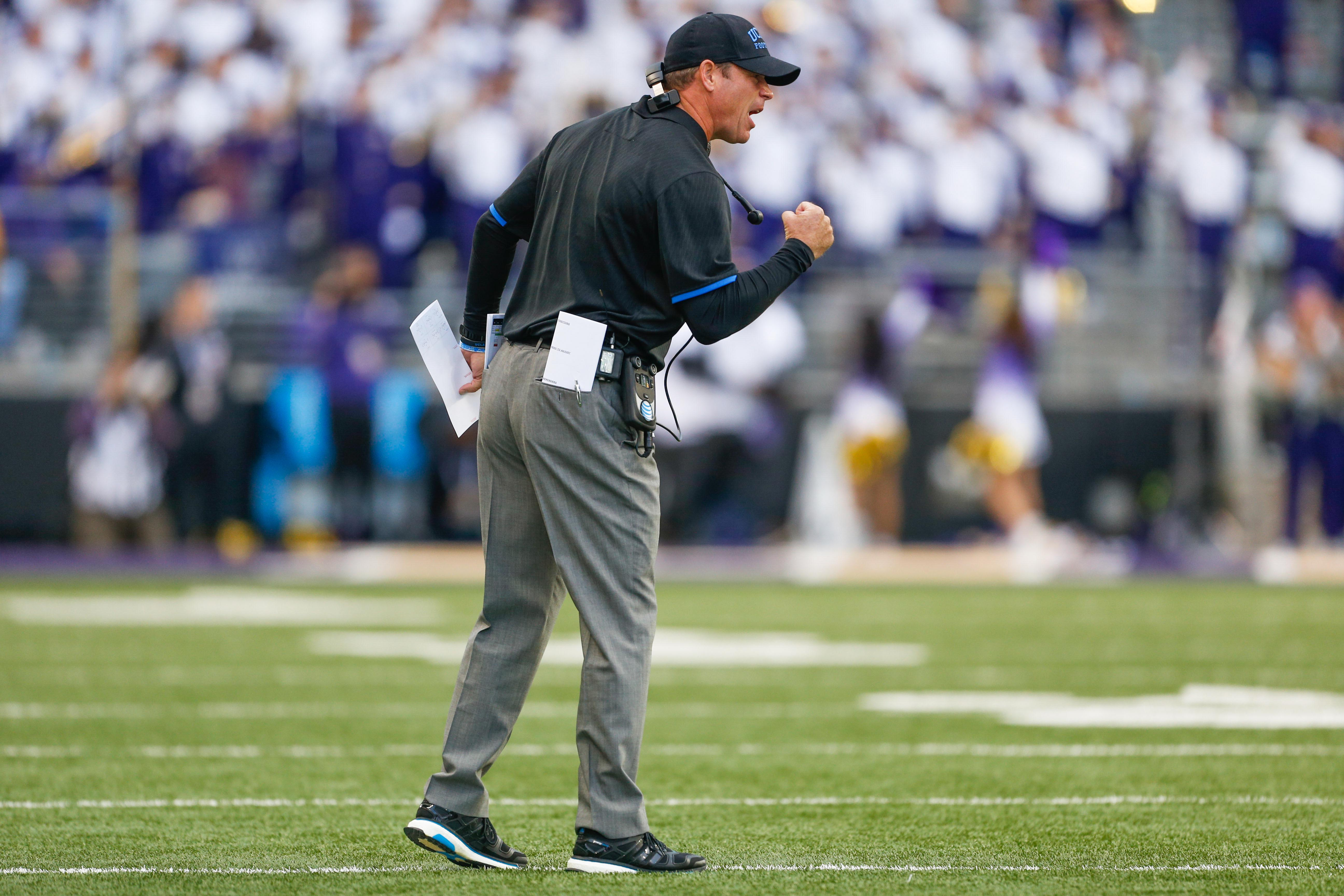 We all know Coach Mora likes to wear black. Let's make sure he's the only Bruin doing so Saturday!