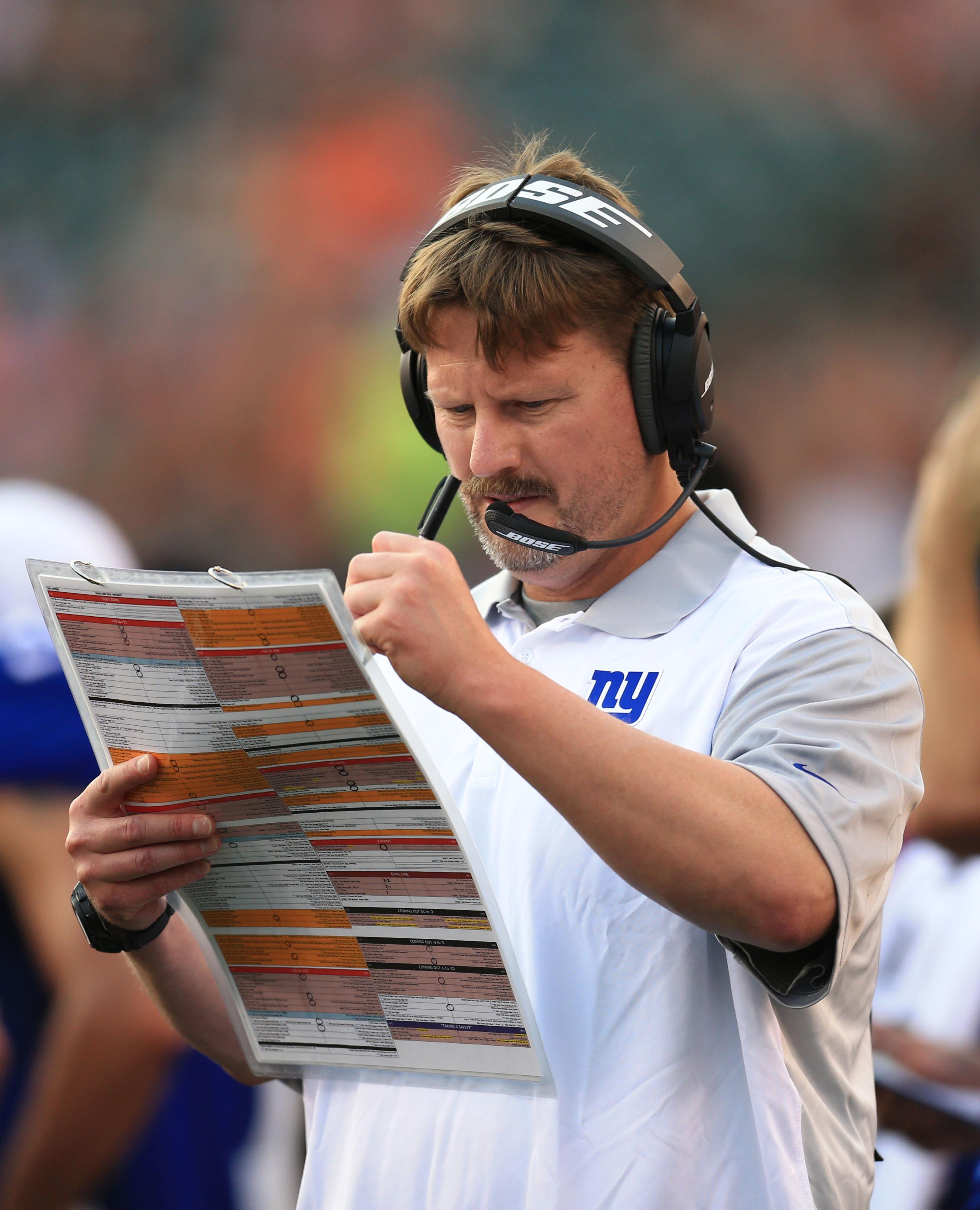 Giants offensive coordinator Ben McAdoo