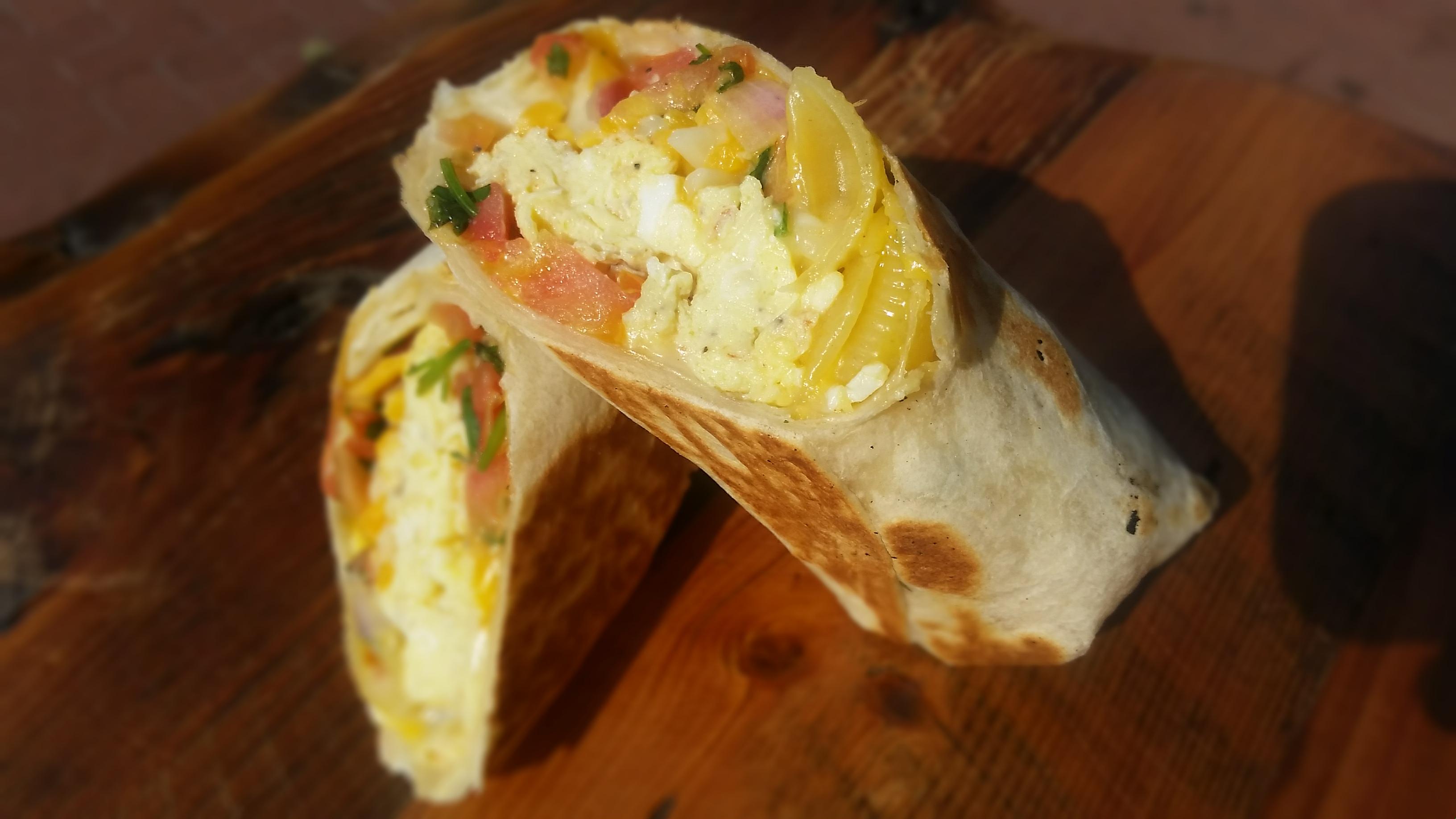 Rito Loco's breakfast burrito