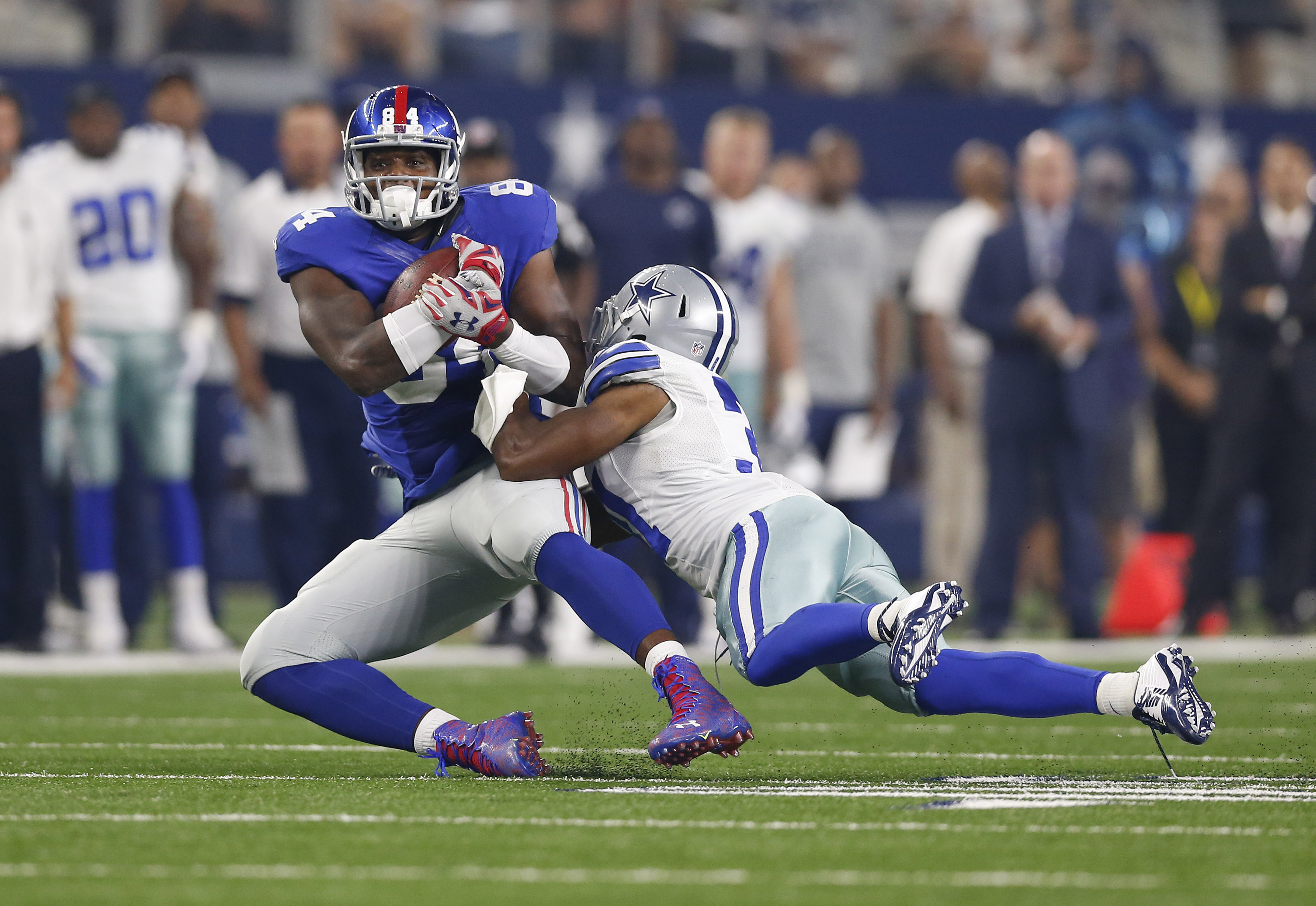 This pass to Larry Donnell was ruled incomplete