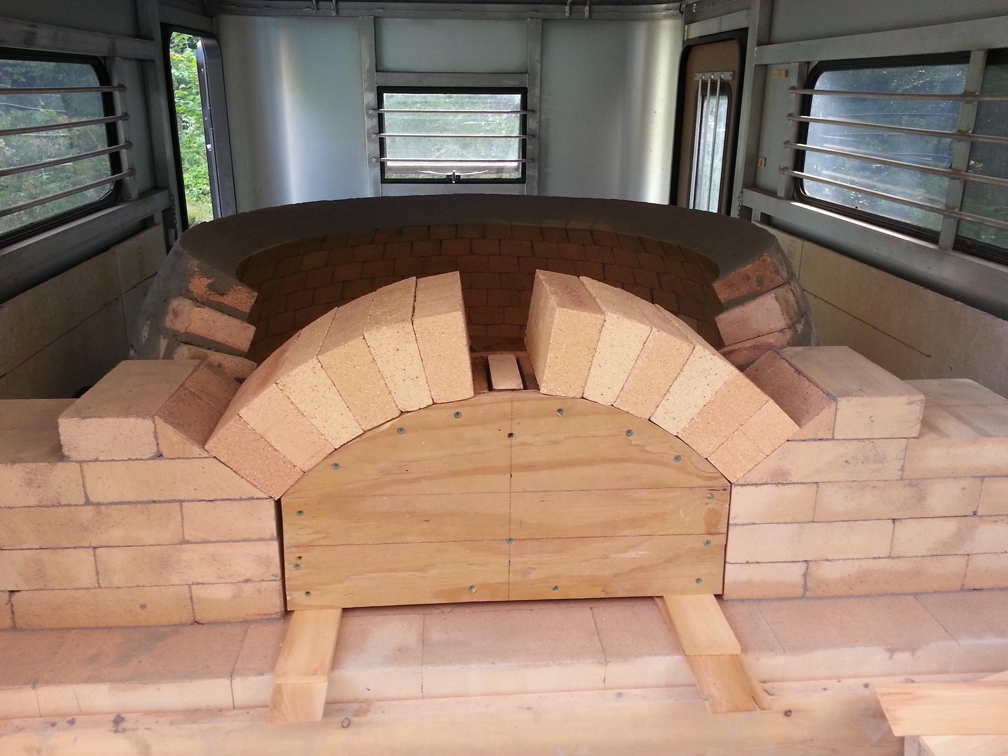 An oven in progress.