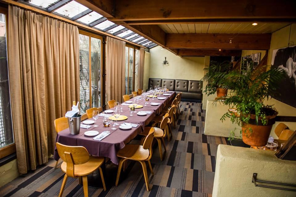 The private dining room at Basta Trattoria