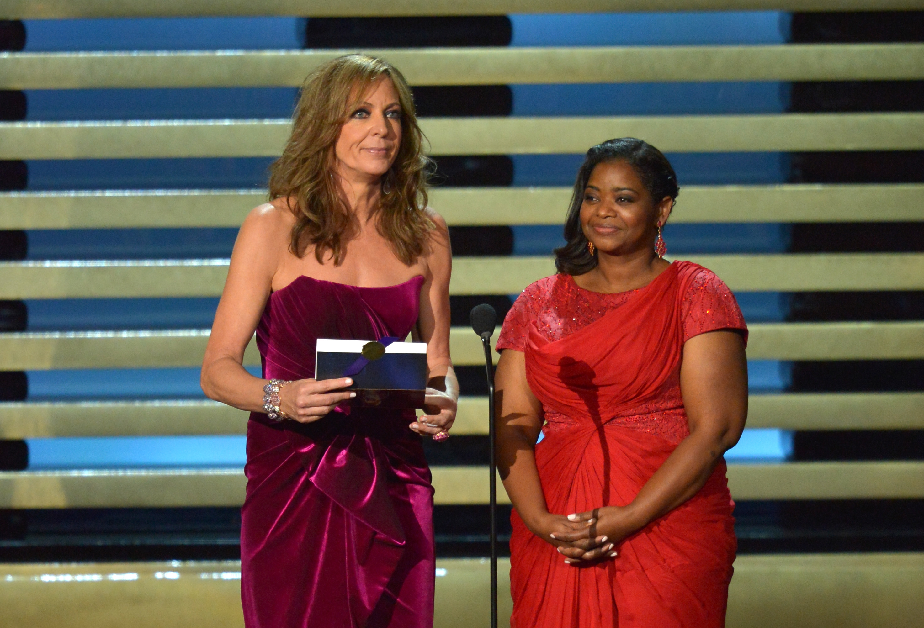 Allison Janney and Octavia Spencer present at the 66th Annual Primetime Emmy Awards.
