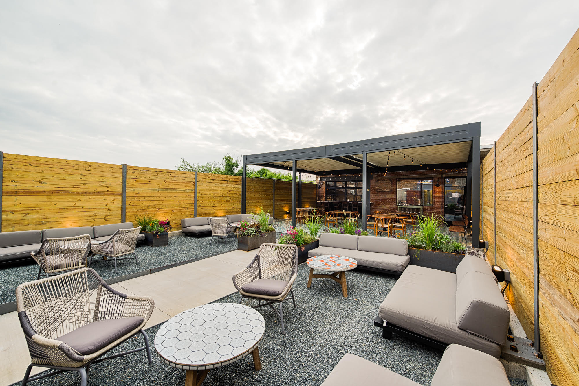 Masseria's lounge area.