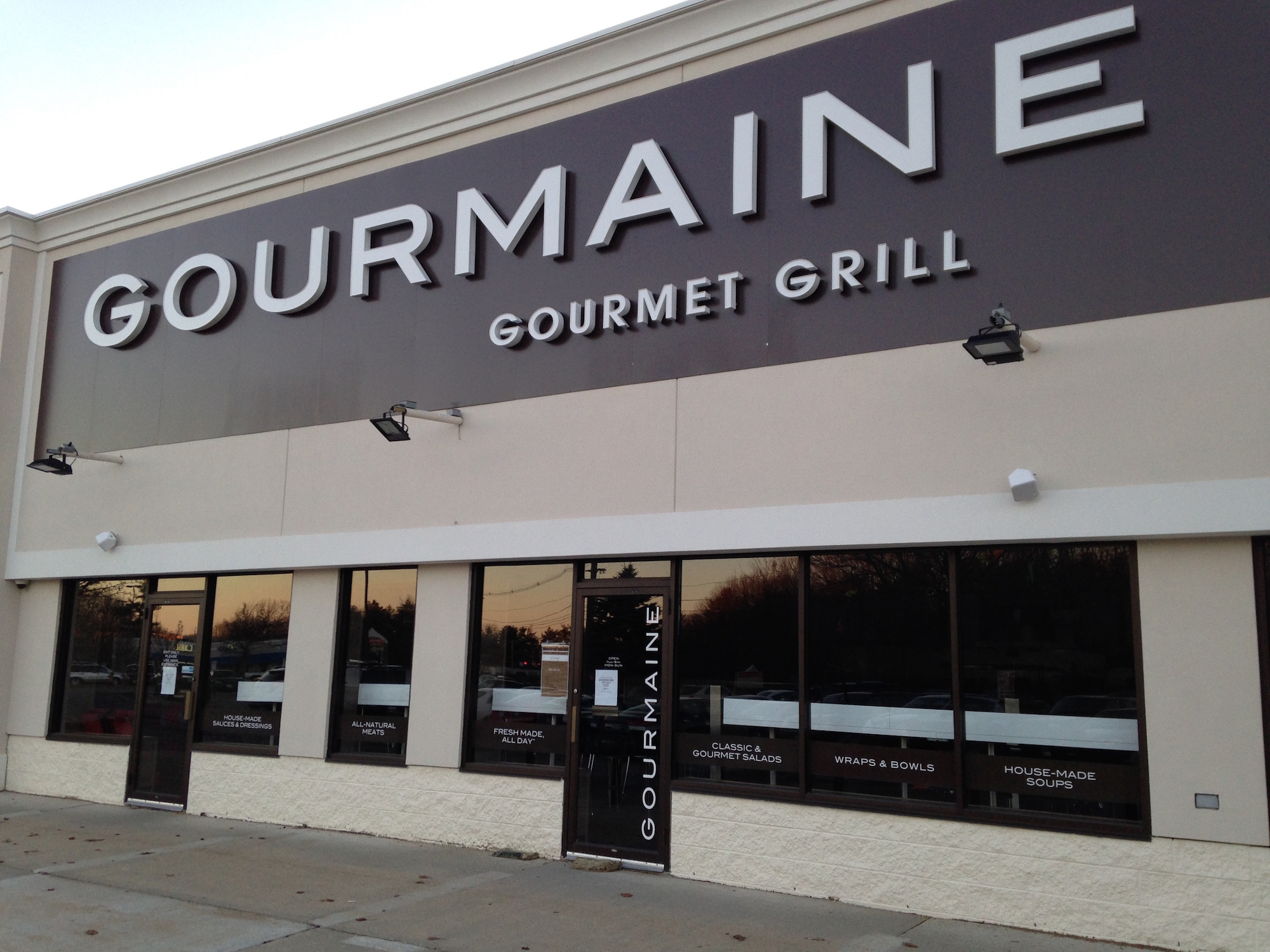 Burger chain b.good will replace Gourmaine next to the Olive Garden in South Portland.