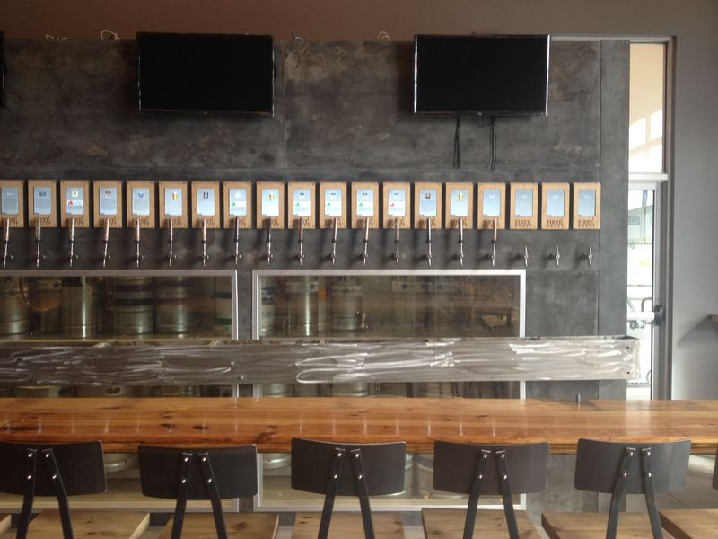 Pour-it-yourself draft system at RiNo's First Draft is ready for Oktoberfest this weekend.