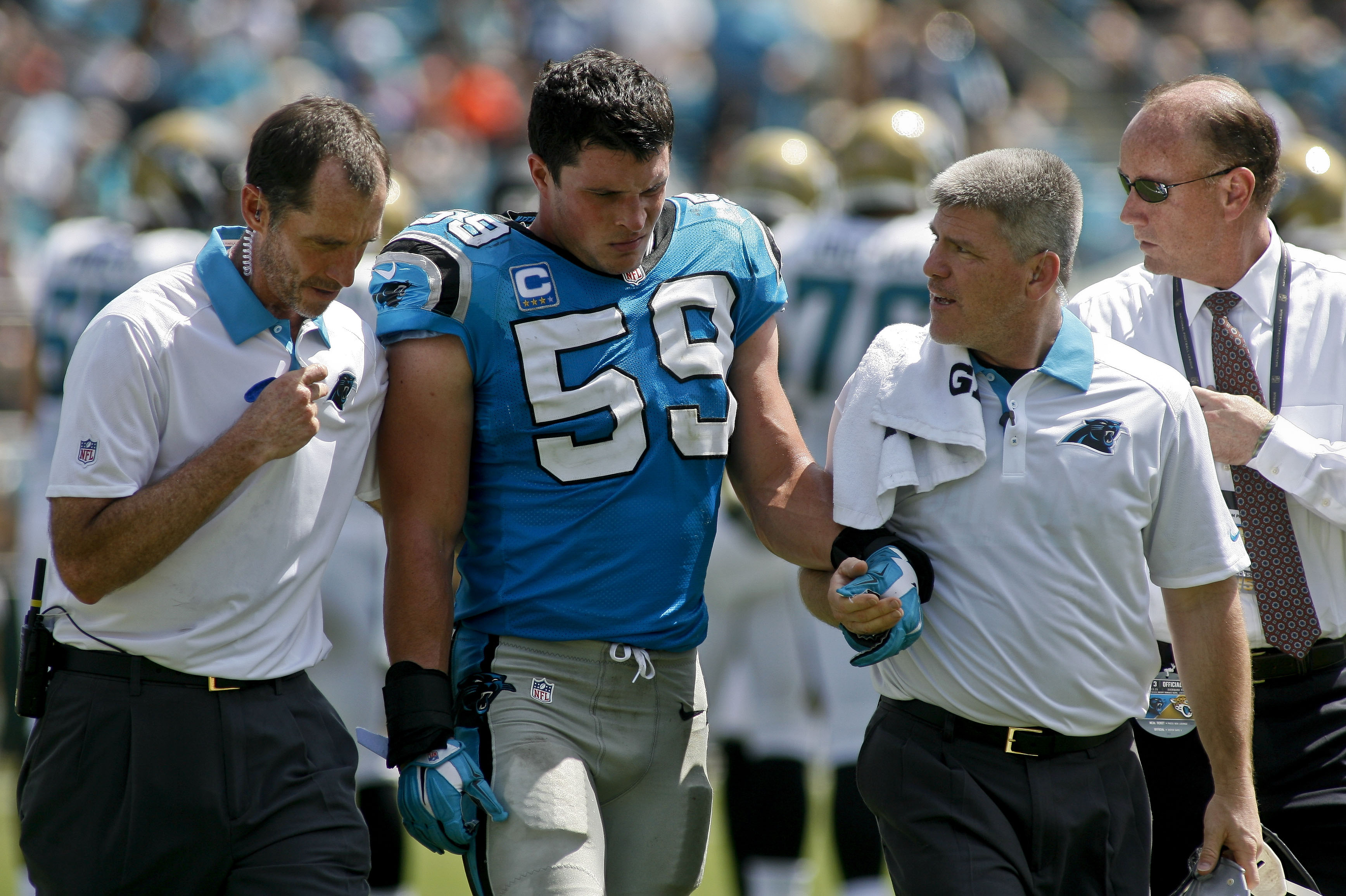 Luke Kuechly has officially been ruled OUT for Houston's week two matchup with Carolina