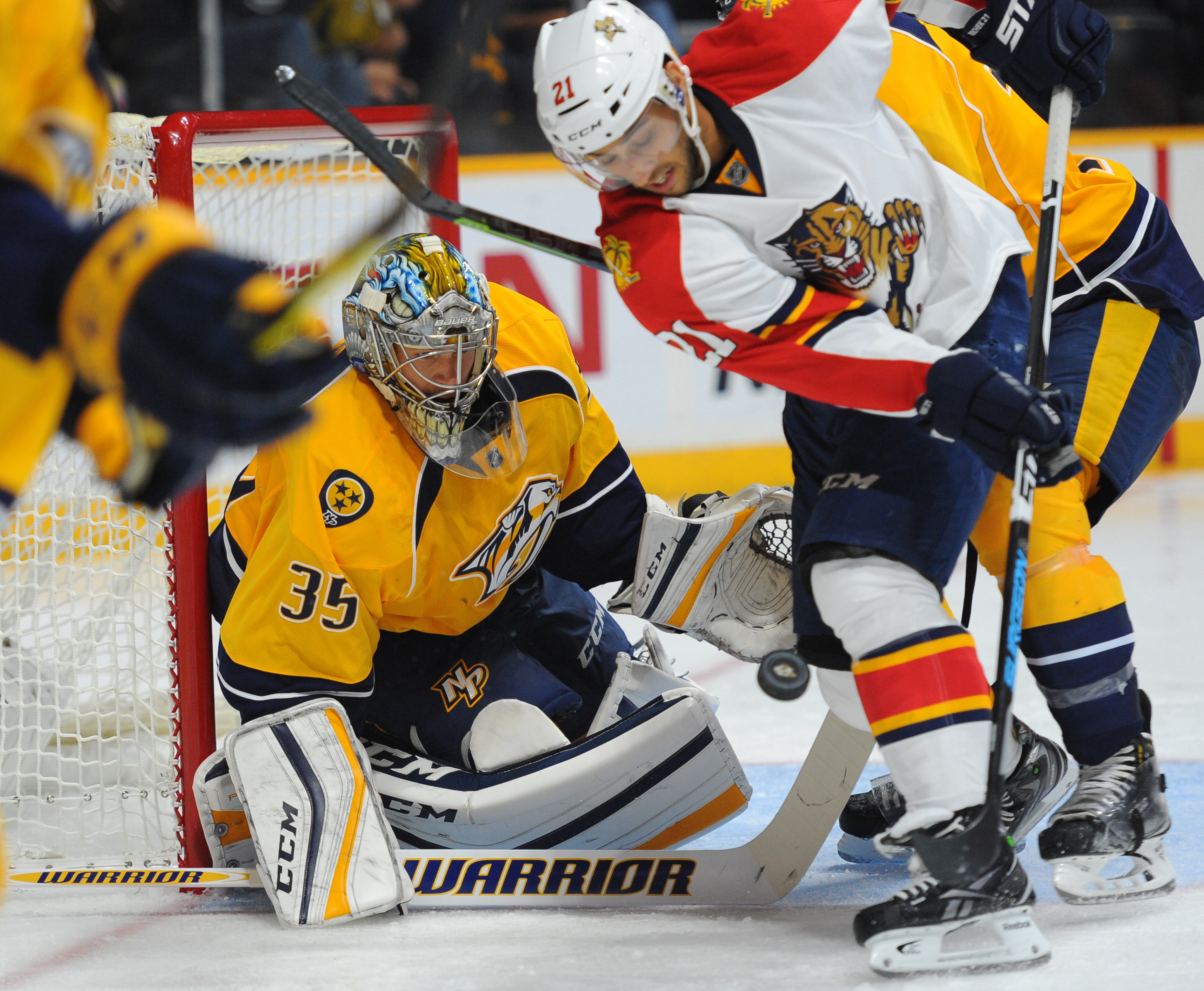 Even Rinne got in on the fun, playing a little over 25 minutes of hockey