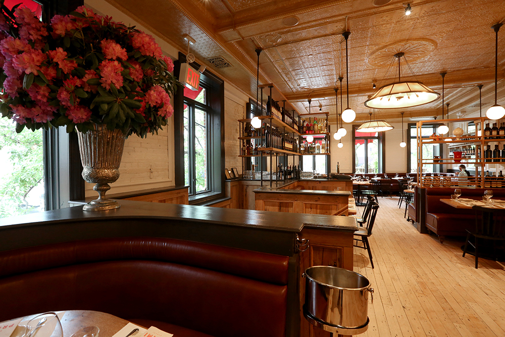 [The upstairs dining room at Bar Primi.  You could go here for lunch today.  Or after work, for a drink.]