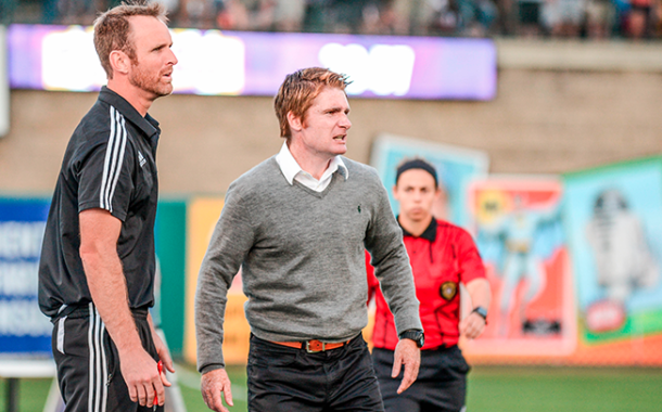Louisville City Head Coach James O'Connor has taken his team to the playoffs in their first year.