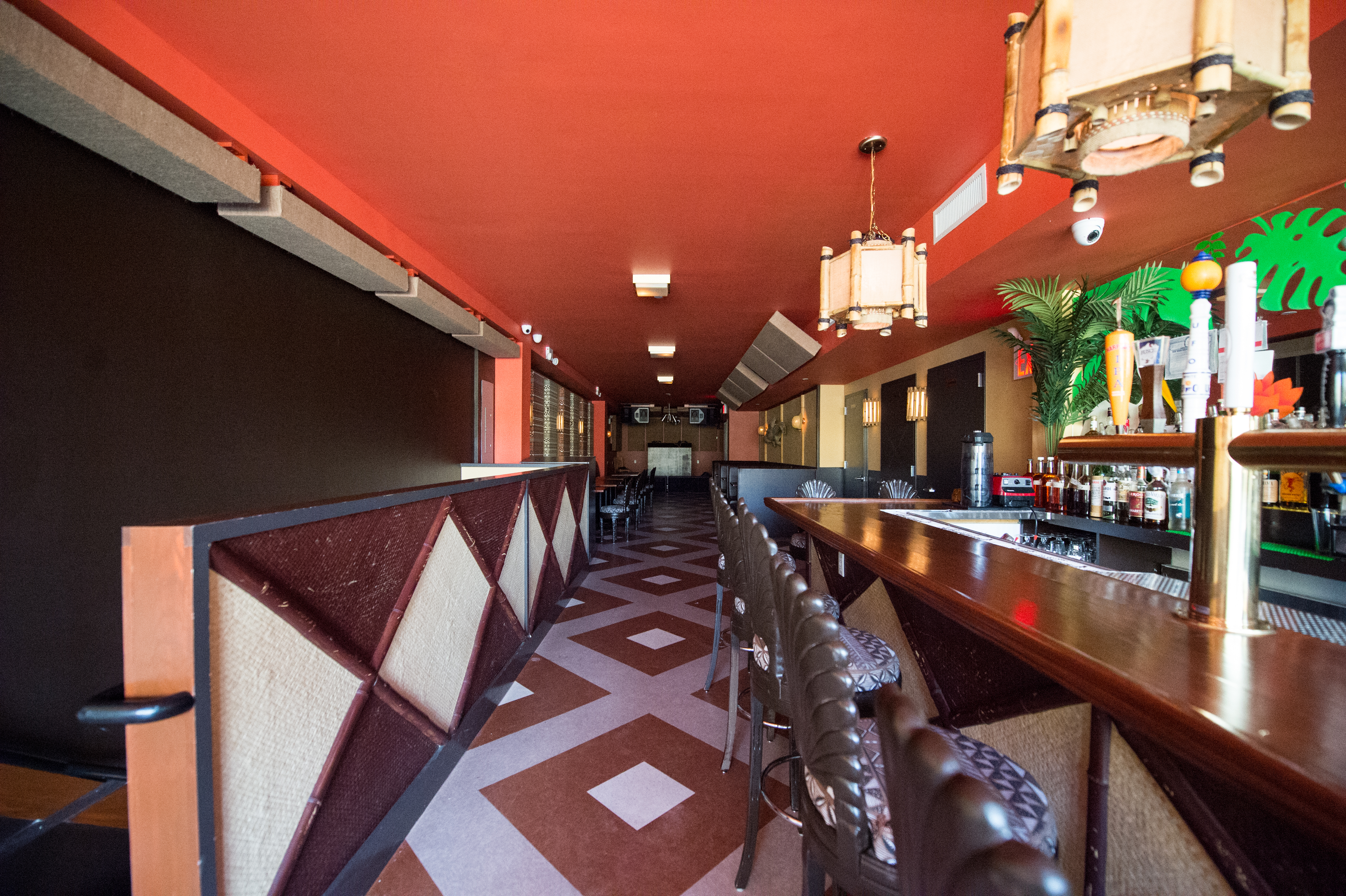 [The bar at Bushwick hot spot El Cortez.  Solid choice for an after work drink or dinner today, Tuesday, September 22.]