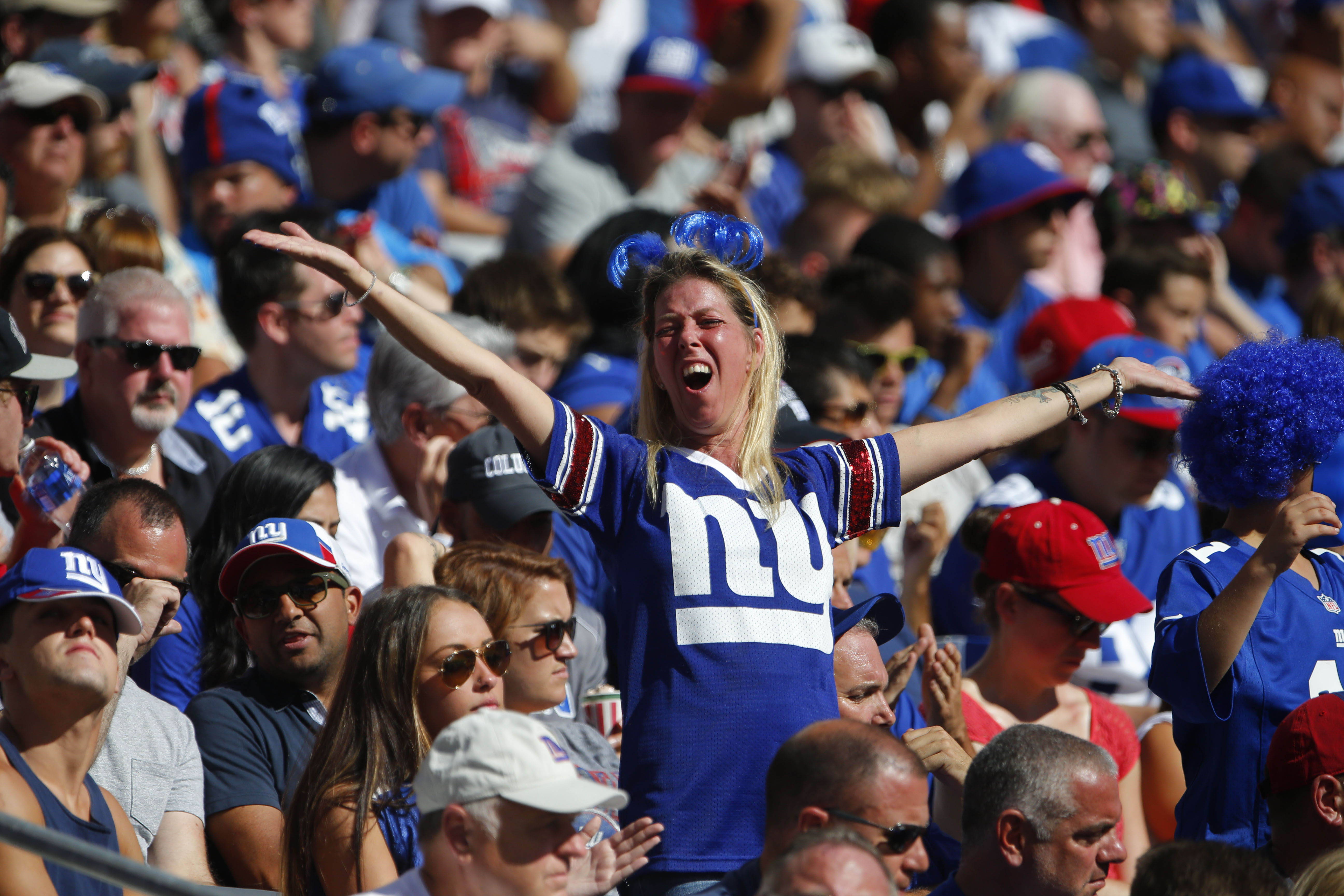 Oddsmakers think Giants fans will have something to cheer about Thursday night