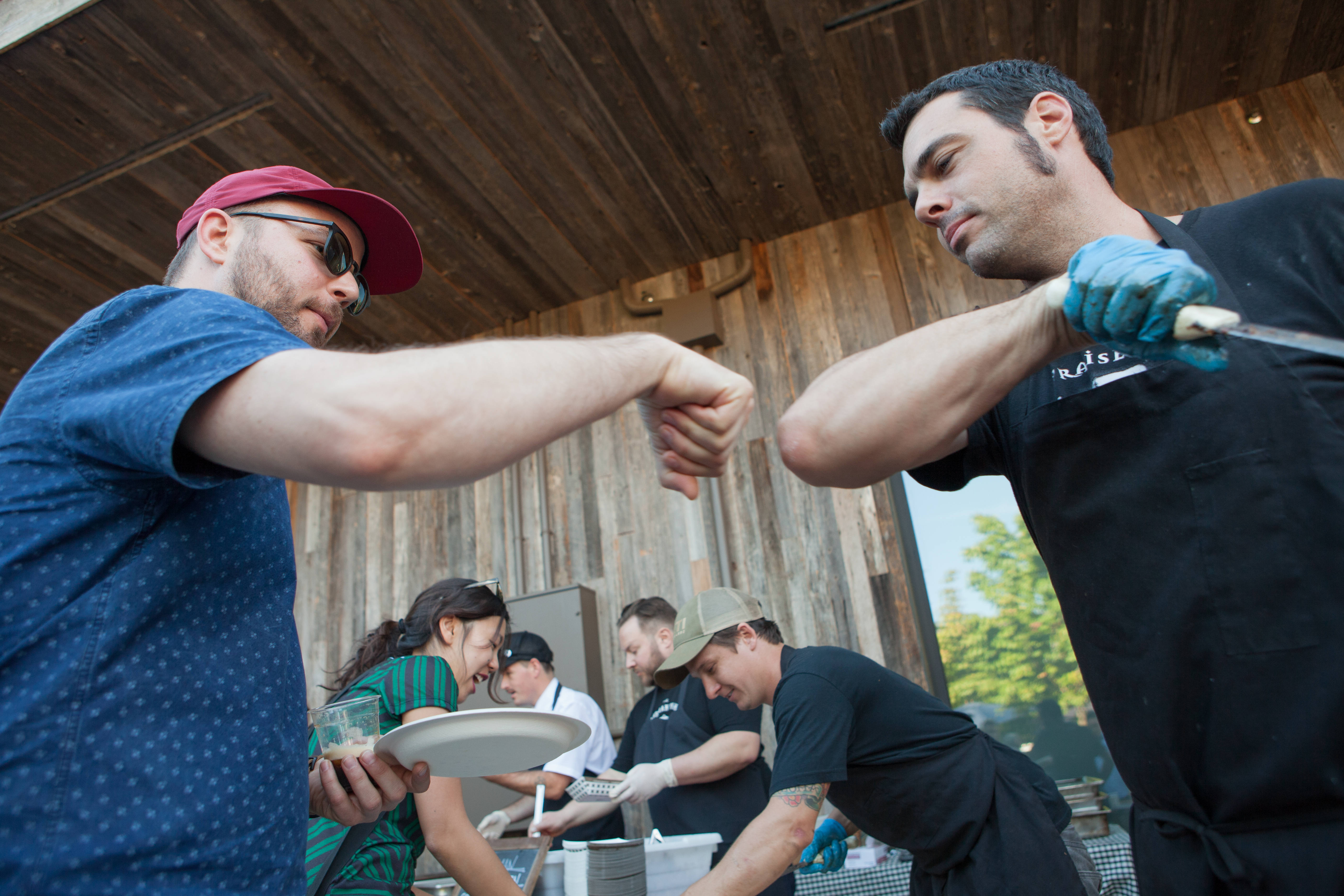Aaron Franklin at Stumptown Coffee Cookout during Feast 2015