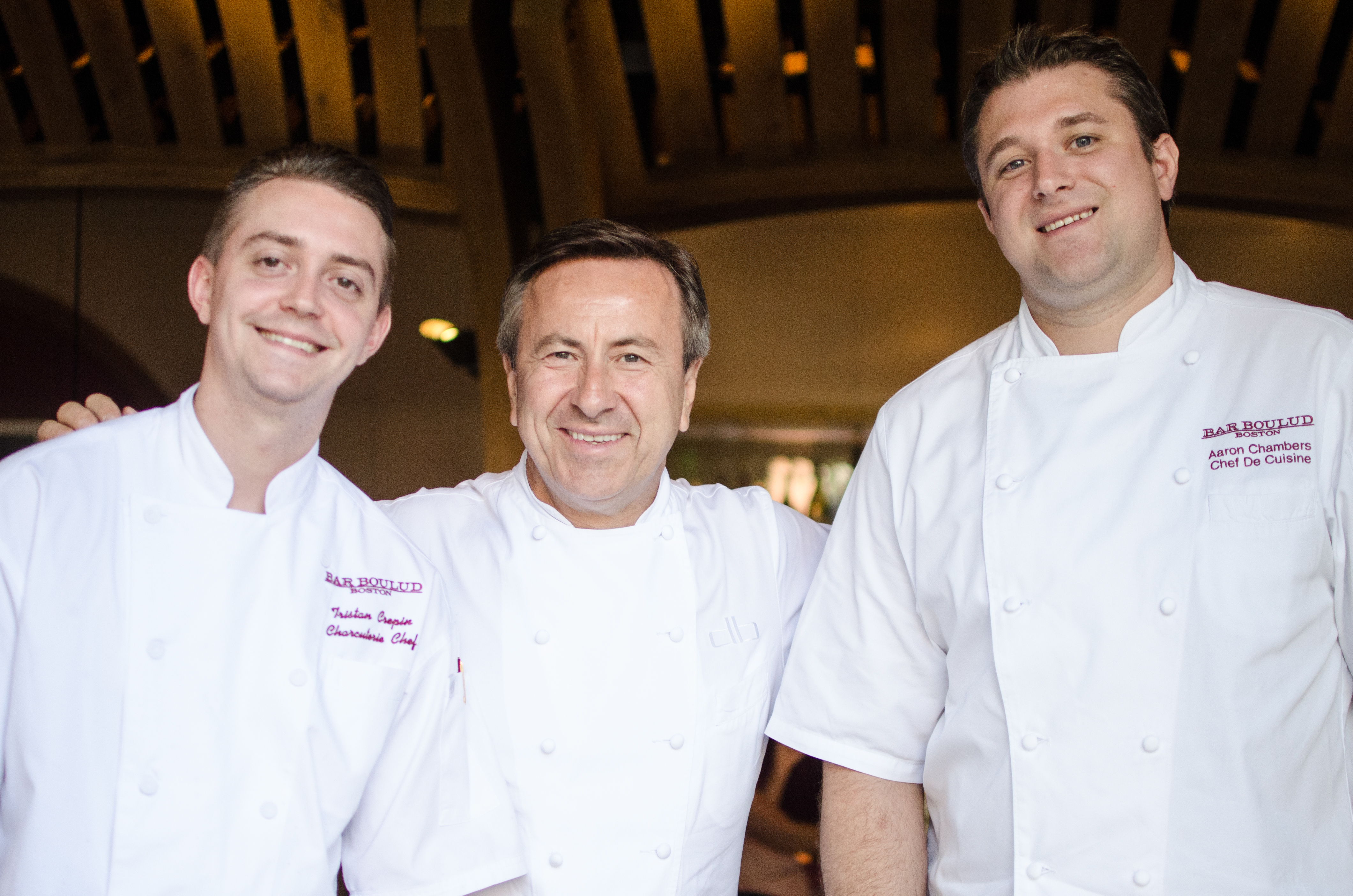 From left to right: Tristan Crépin, Daniel Boulud, Aaron Chambers