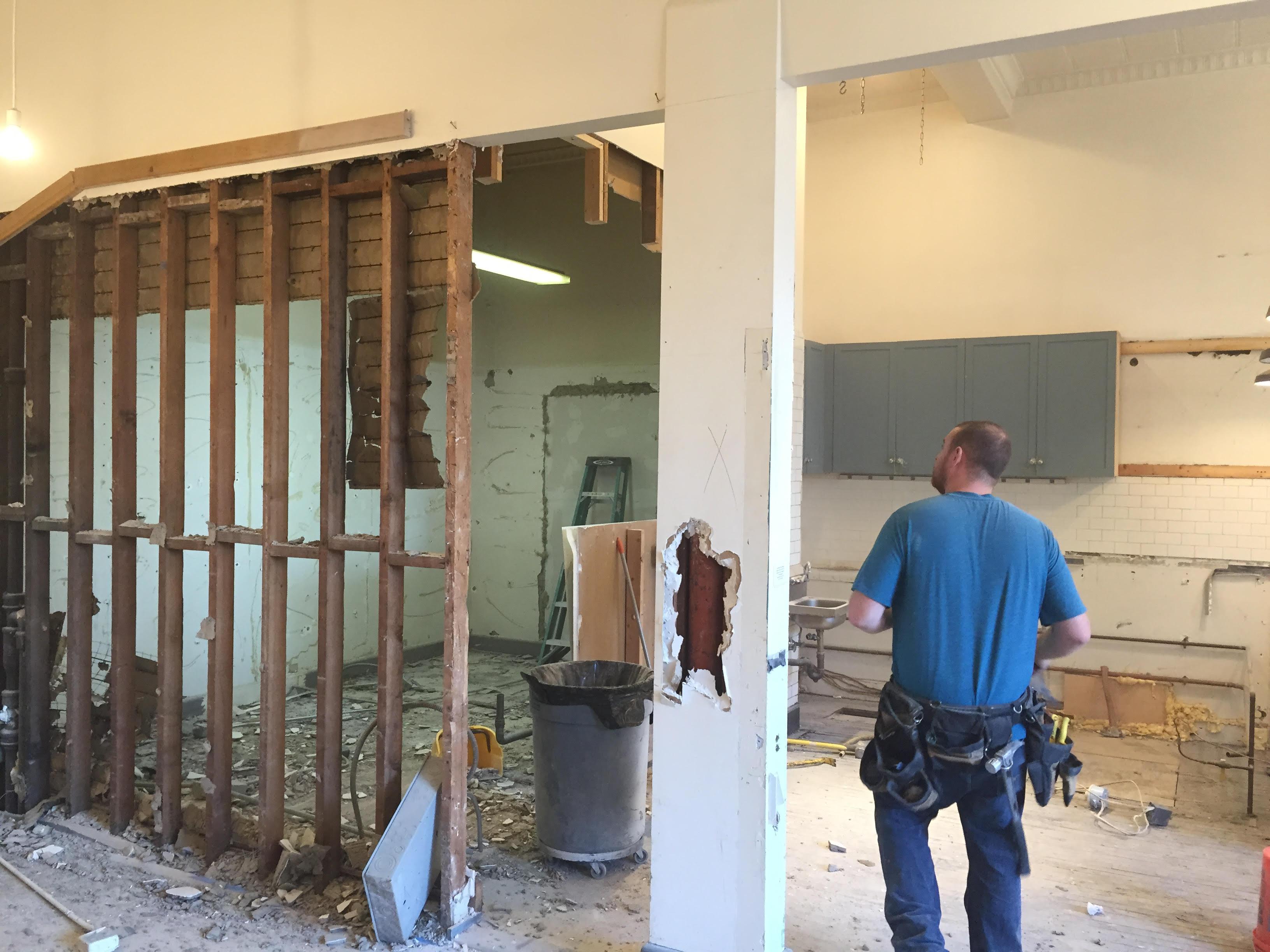 Construction begins at Juliet.