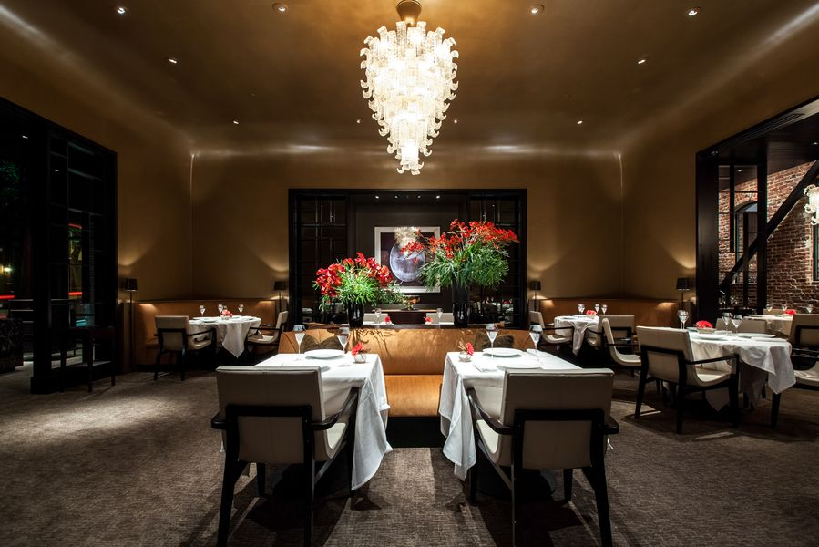 The dining room at Quince.