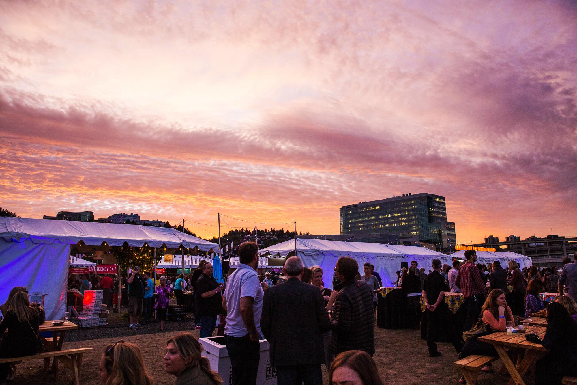 Sunset at the Feast Night Market