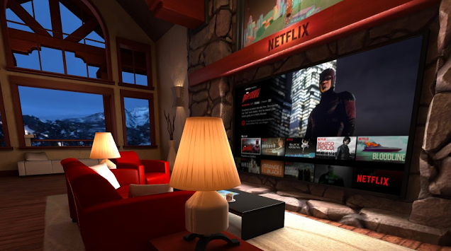 This is what it's like to watch Netflix in virtual reality