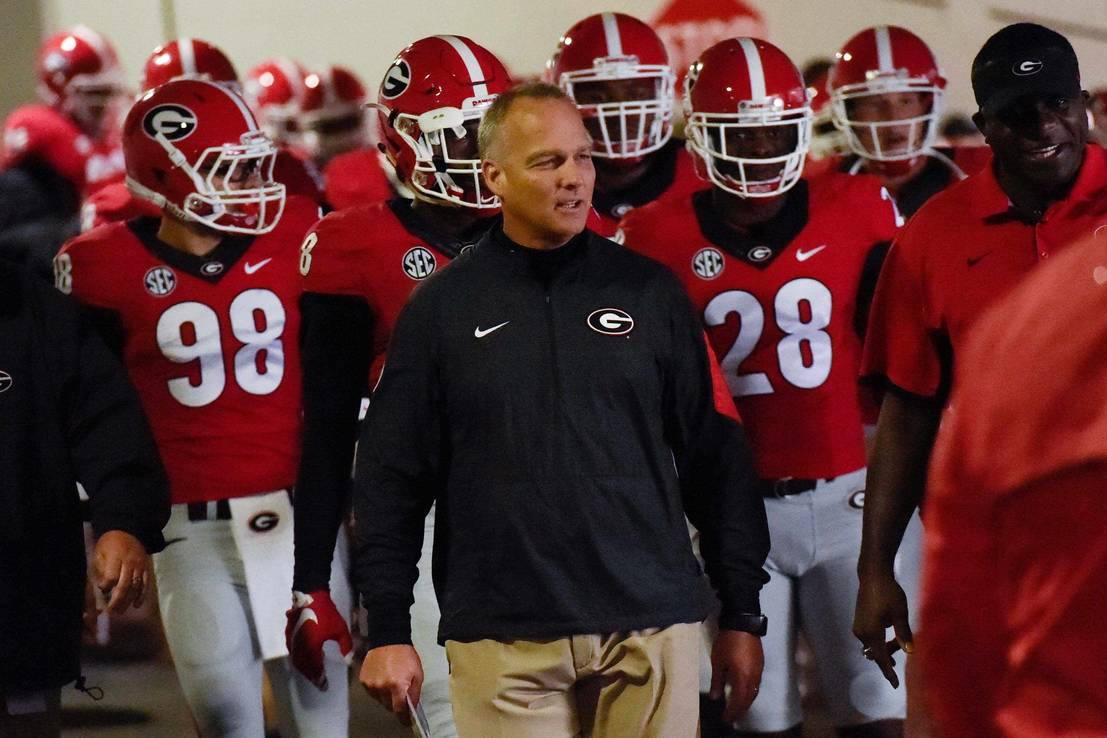 Coach Mark Richt, now Tied for 2nd place in total Wins at Georgia