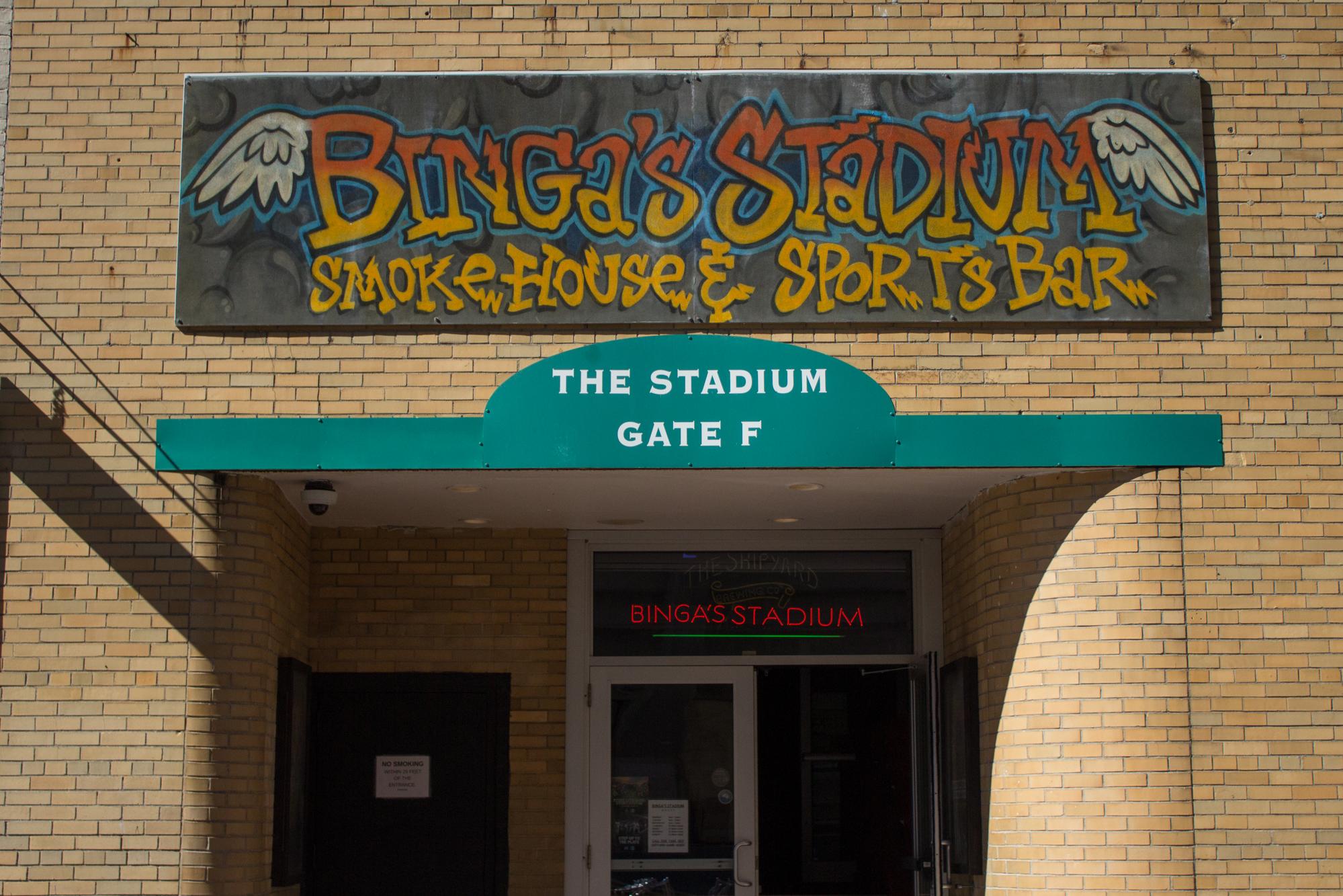 Binga's Stadium, Portland.